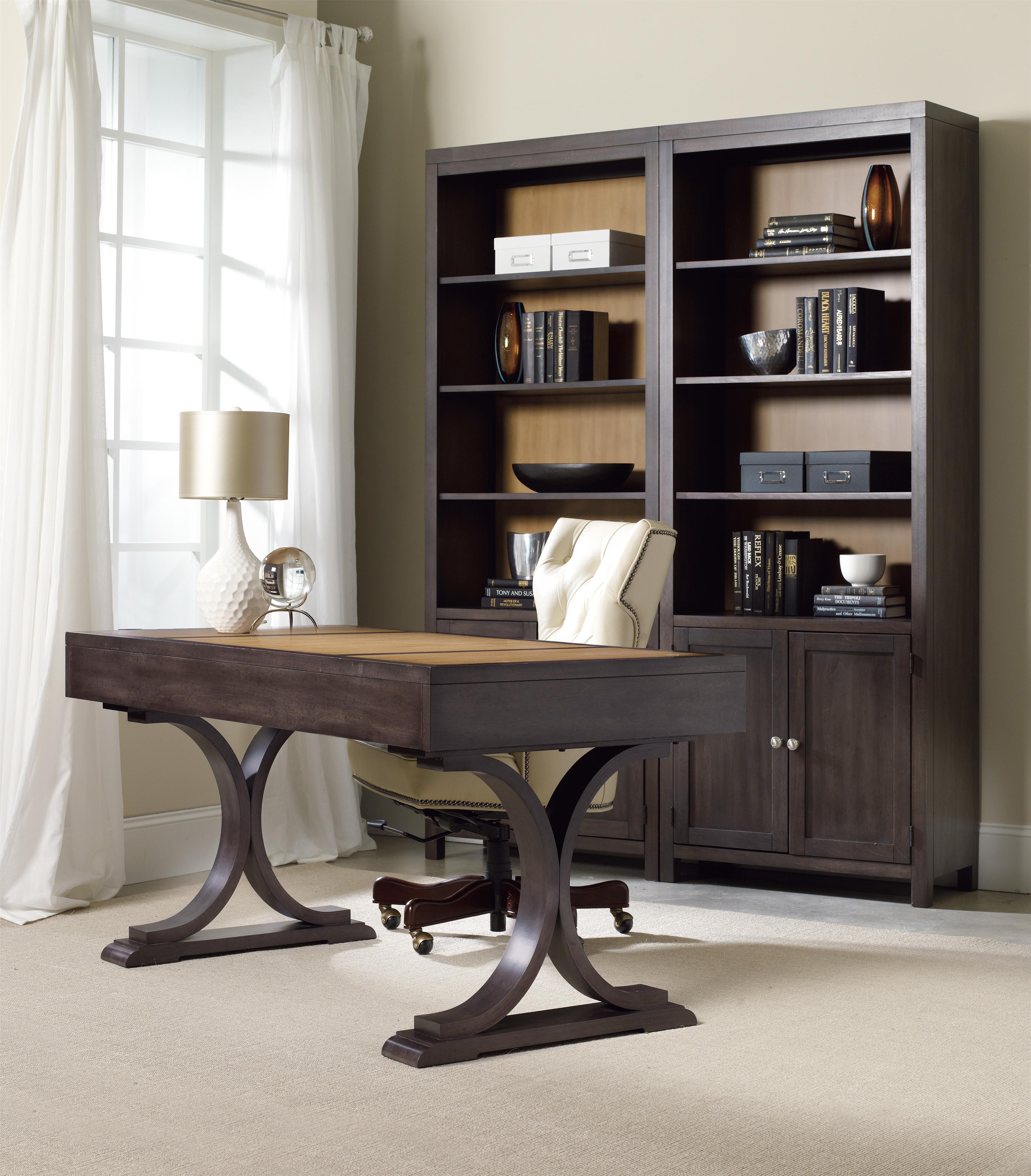 Hooker furniture south park 3 drawer writing desk with for International decor outlet jacksonville fl