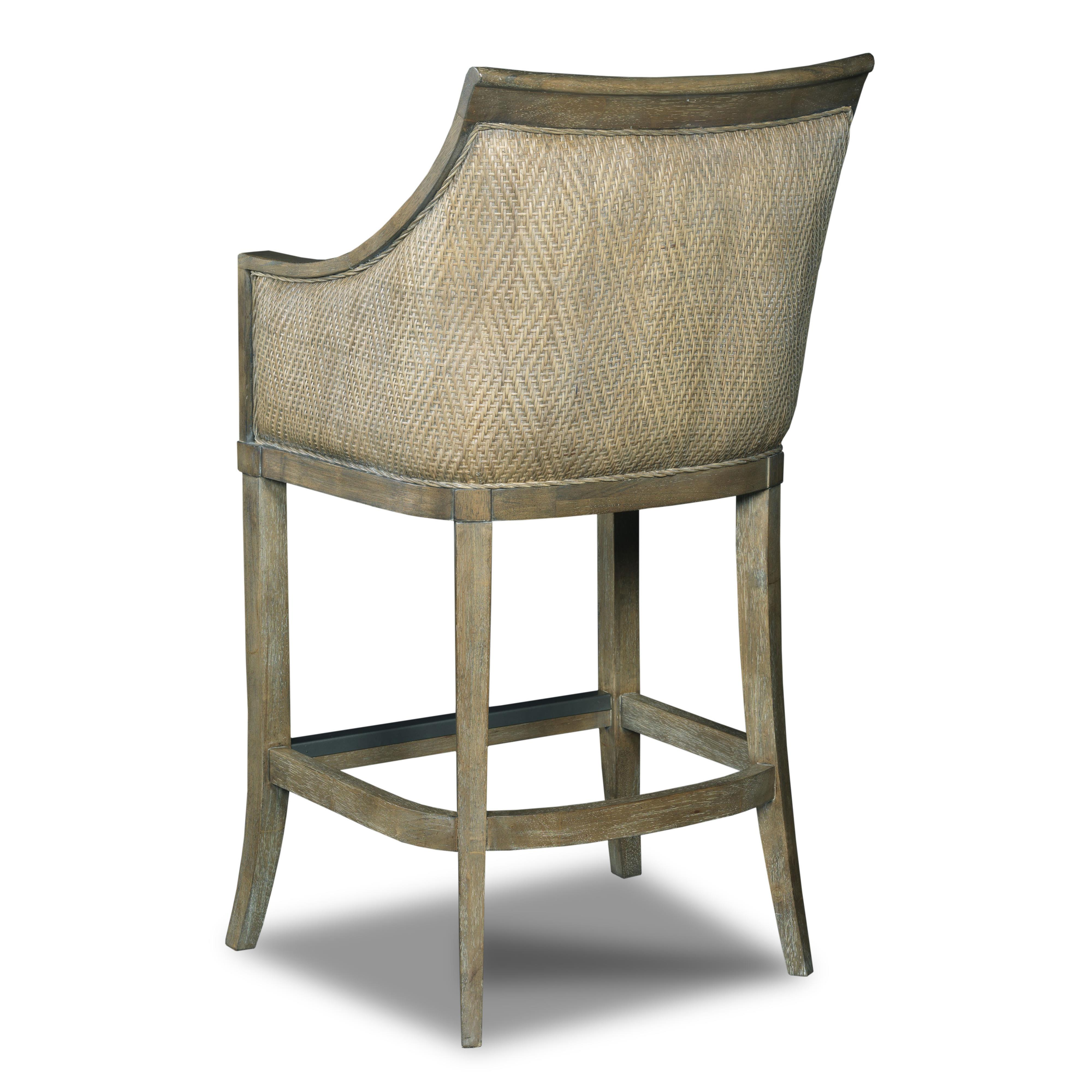 Hooker furniture stools light sea breeze tropical for Tropical home bar furniture