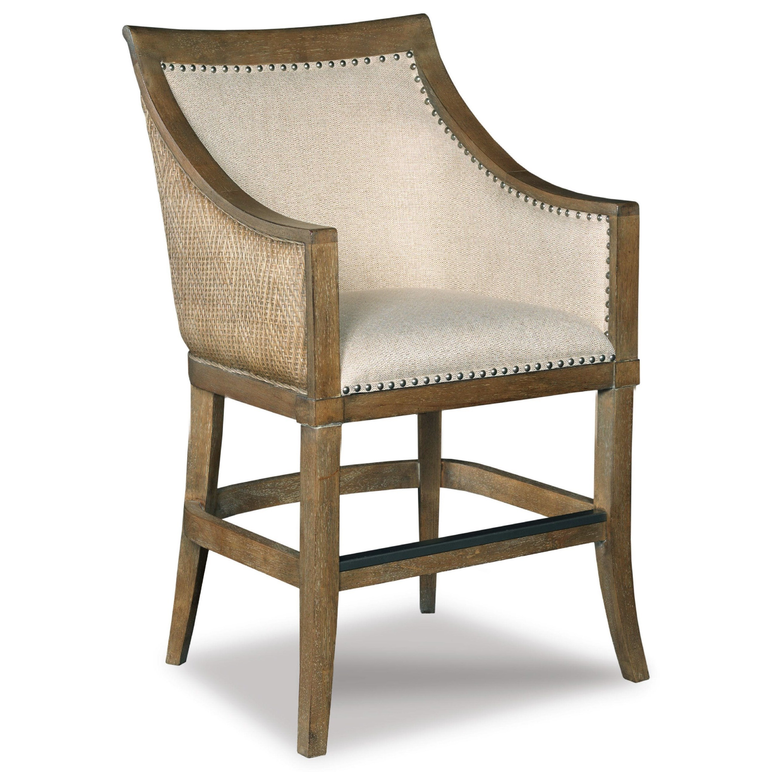 Hooker Furniture Stools Light Sea Breeze Tropical Counter Stool Olinde 39 S Furniture Bar Stools