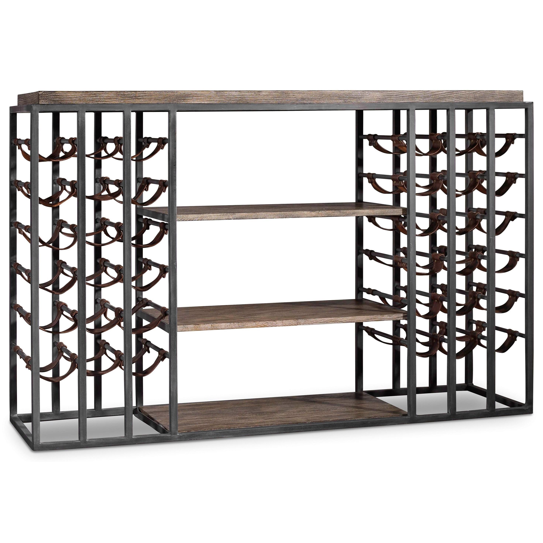 Hooker Furniture Studio 7h Wine Rack With Storage For 36