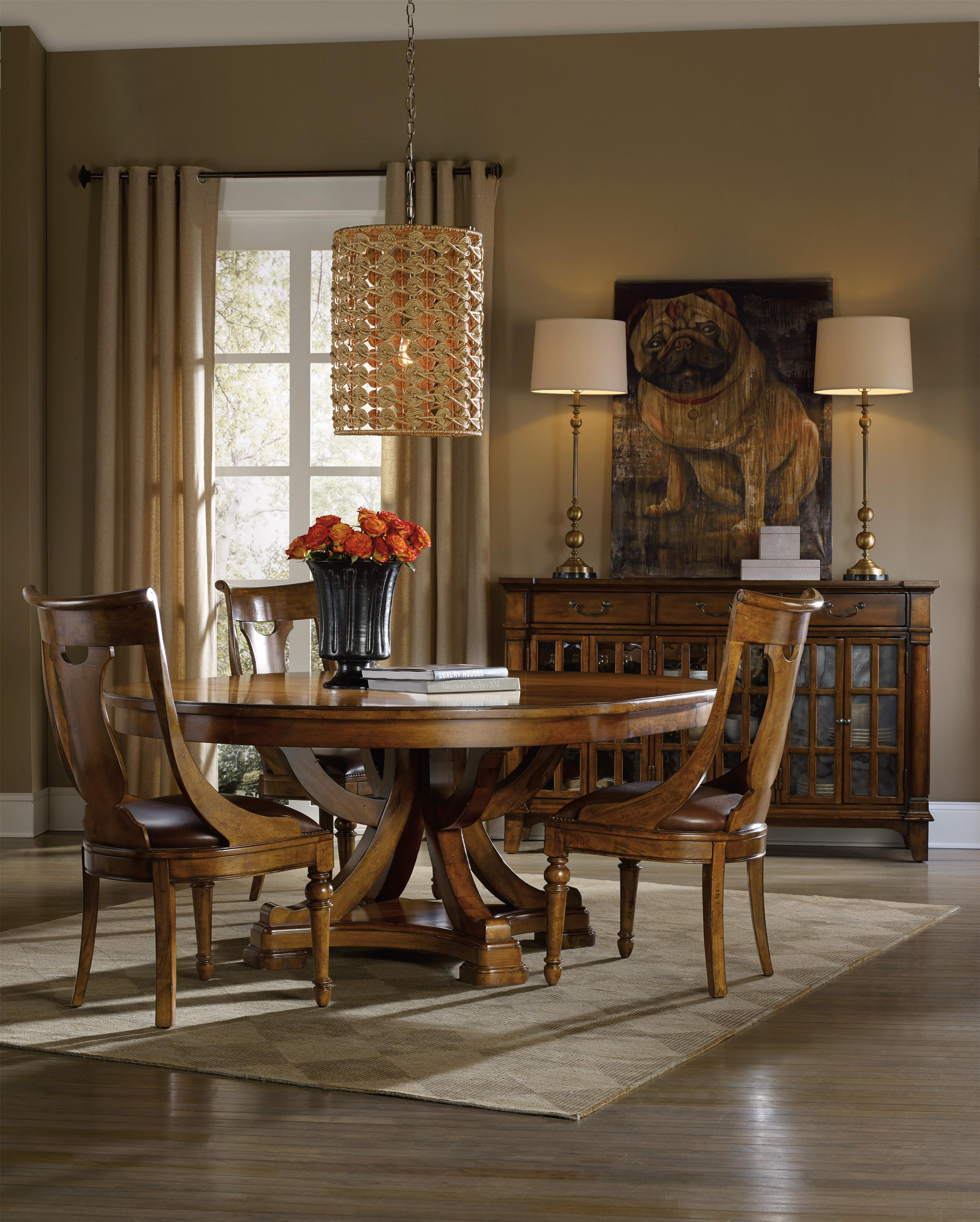 Hooker furniture tynecastle casual dining room group for Casual dining room tables