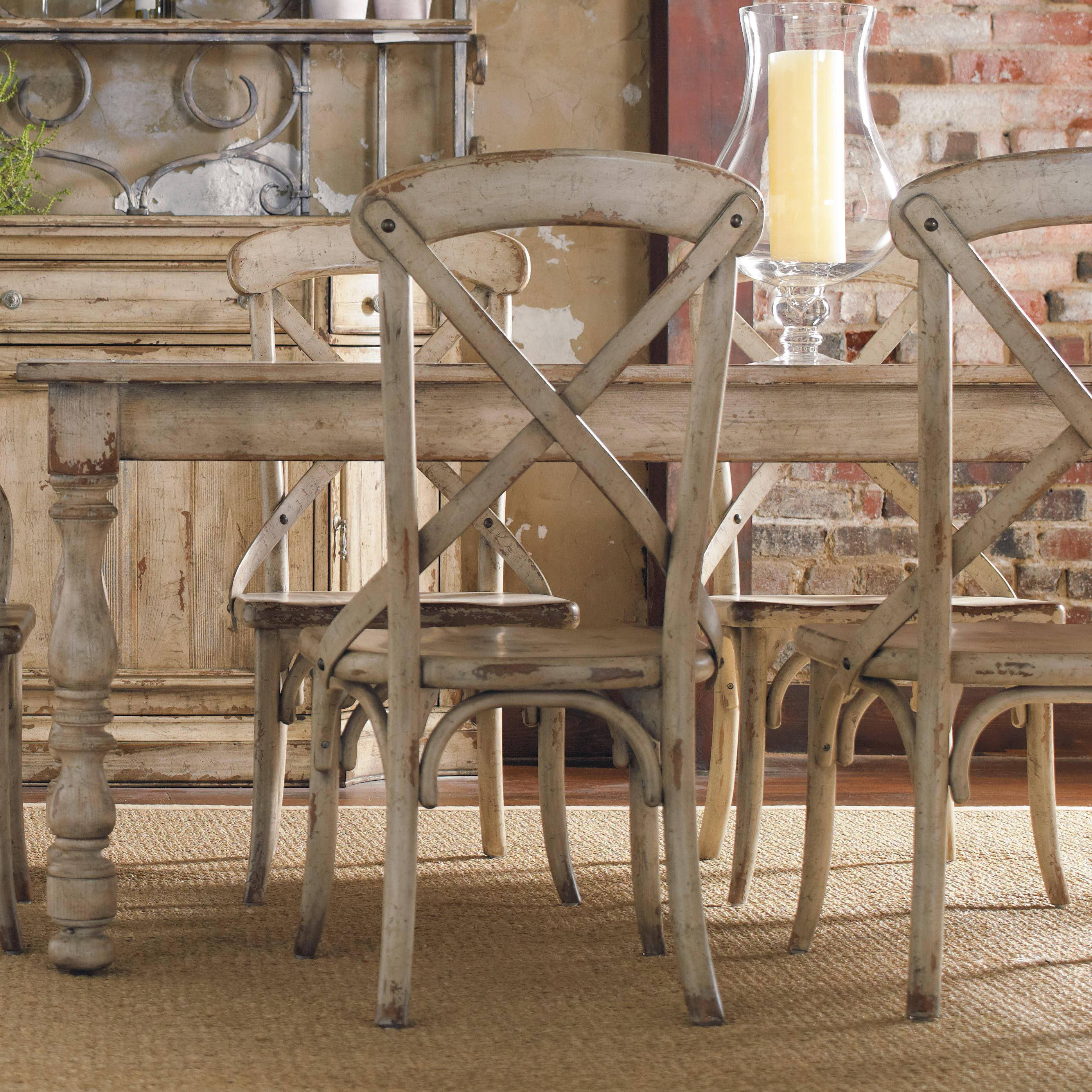 Hooker furniture wakefield rectangular leg dining table for Distressed dining room table