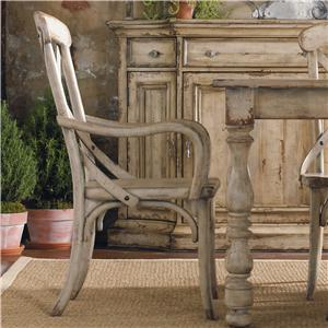 Hooker Furniture Wakefield X Back Distressed White Dining