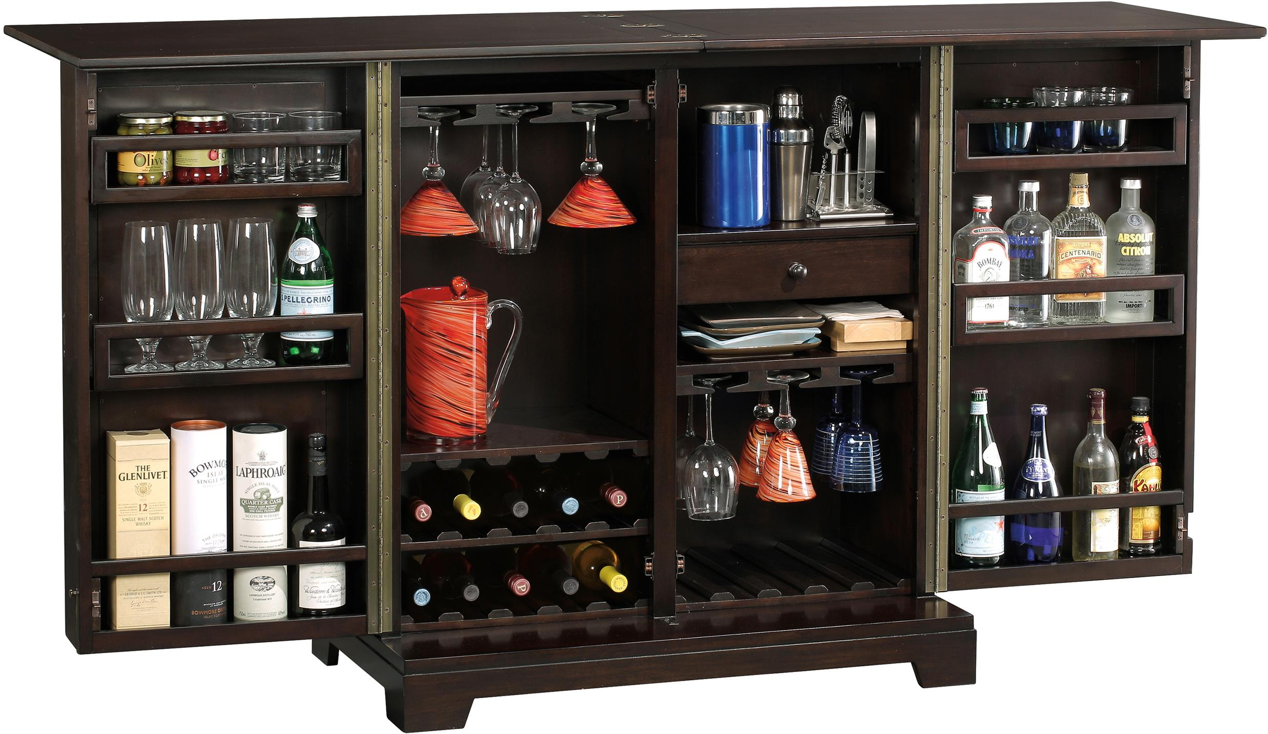 Howard miller wine bar furnishings barolo cabinet Wine bar furniture