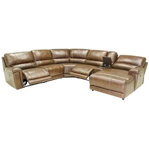 Htl 2678cs reclining leather sectional sofa for Htl sectional leather sofa