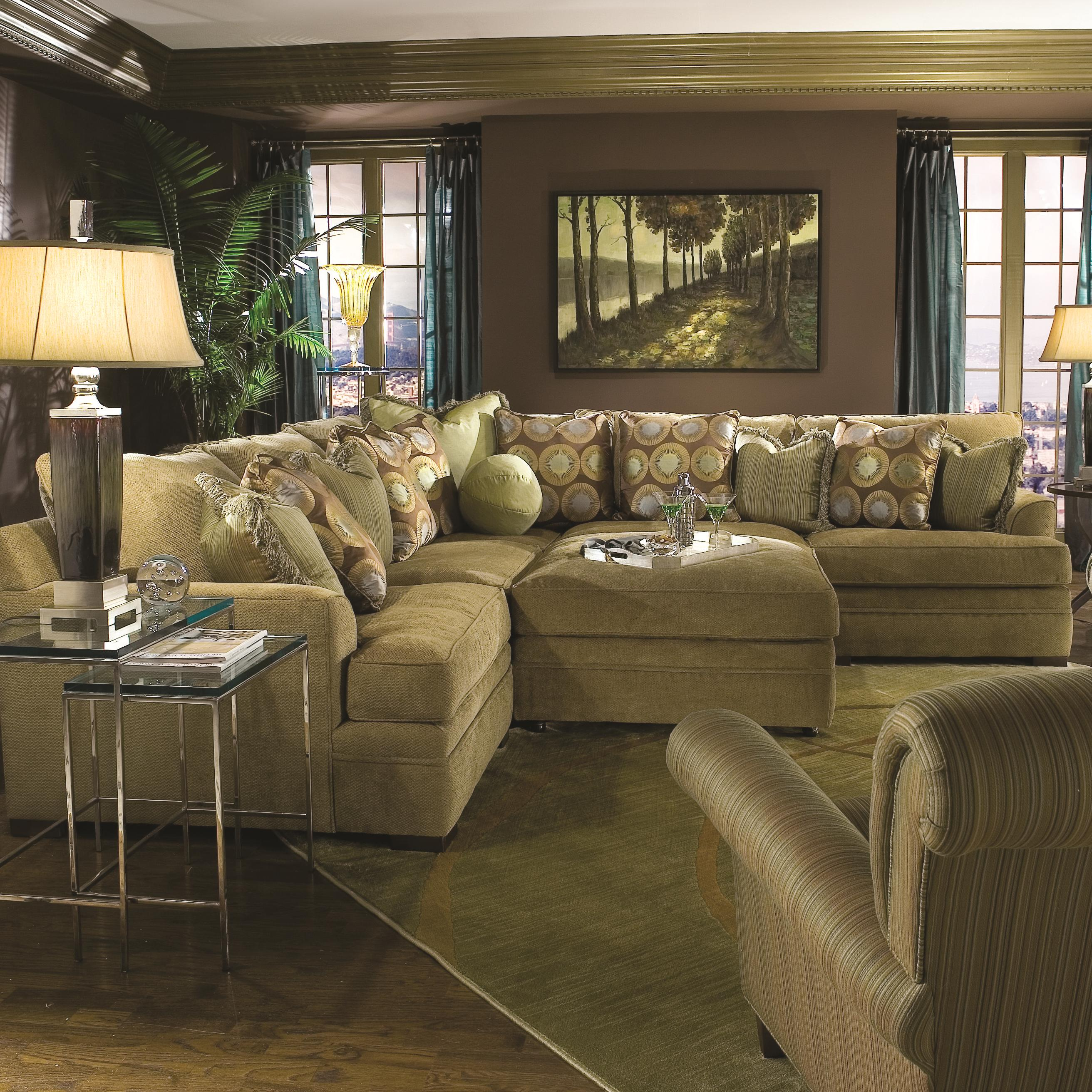 Huntington House 7100 Casual Contemporary L Shape Sectional Sofa Wayside Furniture Sectional