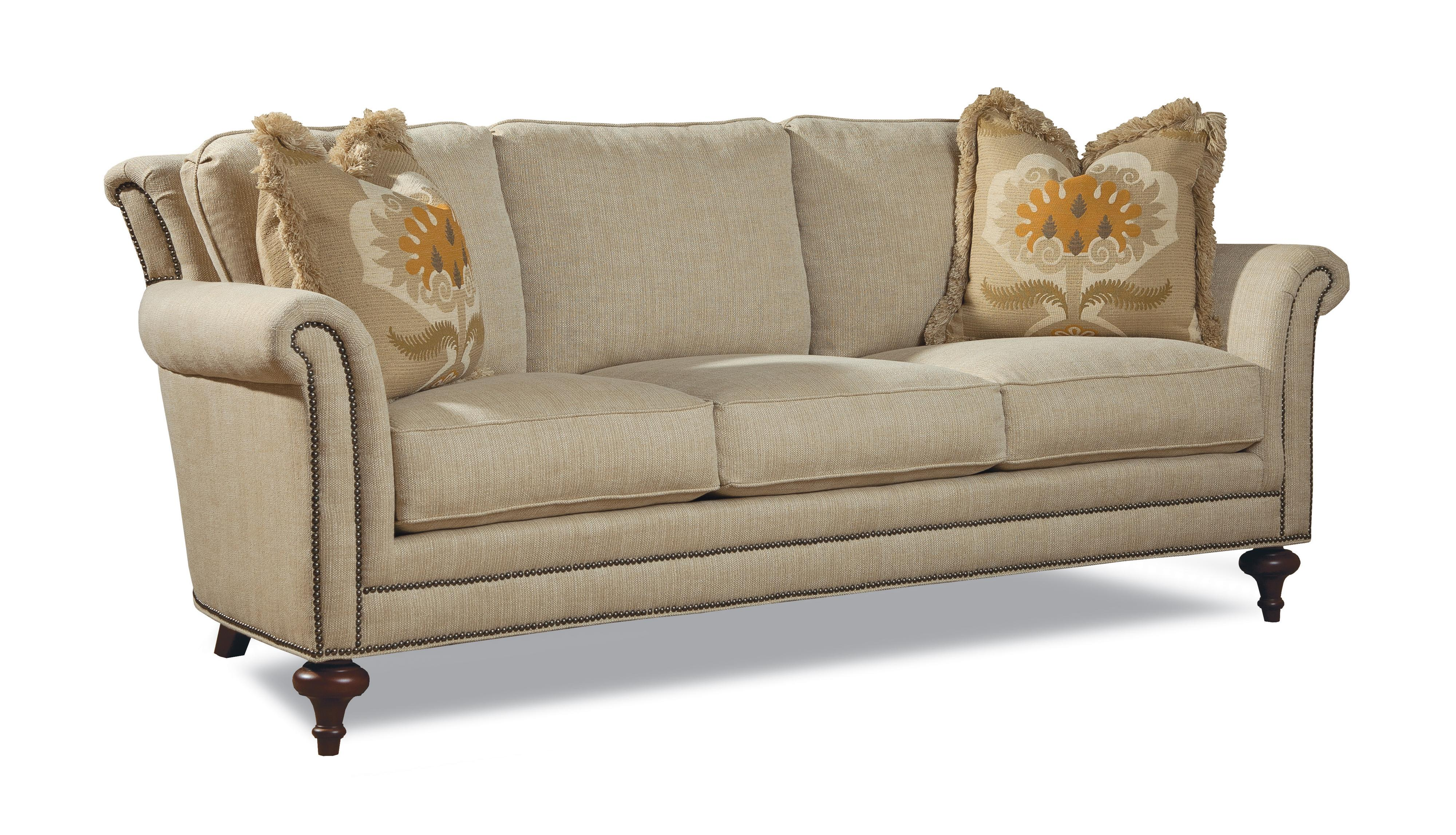 Huntington house 7162 traditional sofa w turned legs for Traditional sofas with legs