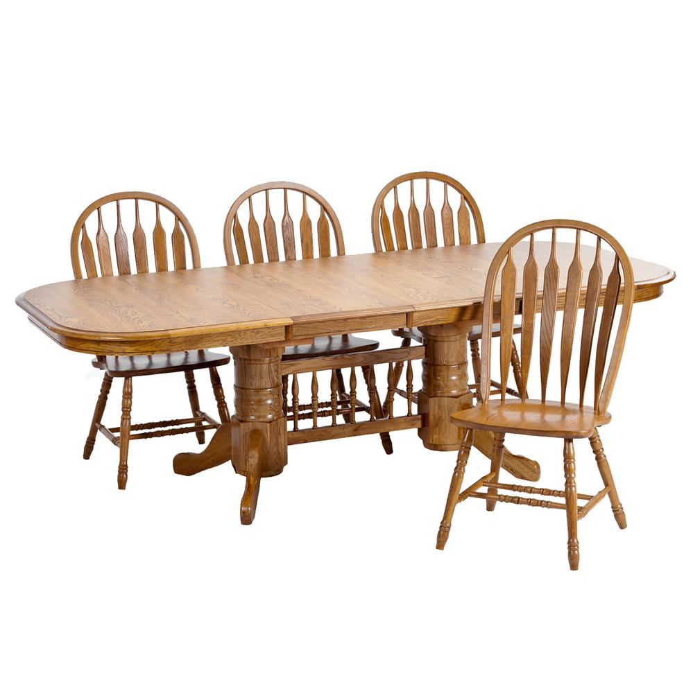 Intercon Classic Oak 5Pc Formica Top Dining Room Wayside