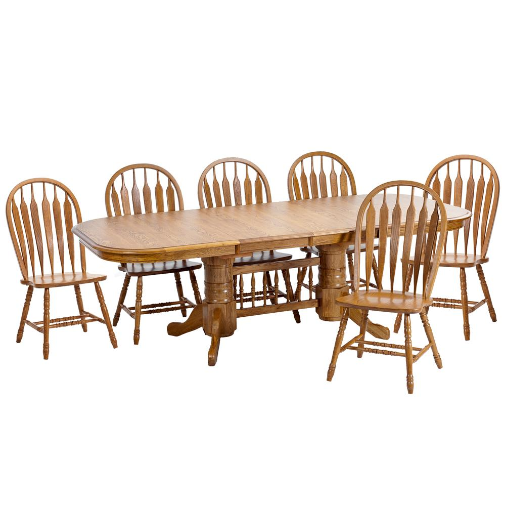 Intercon Classic Oak 7Pc Formica Top Dining Room Wayside