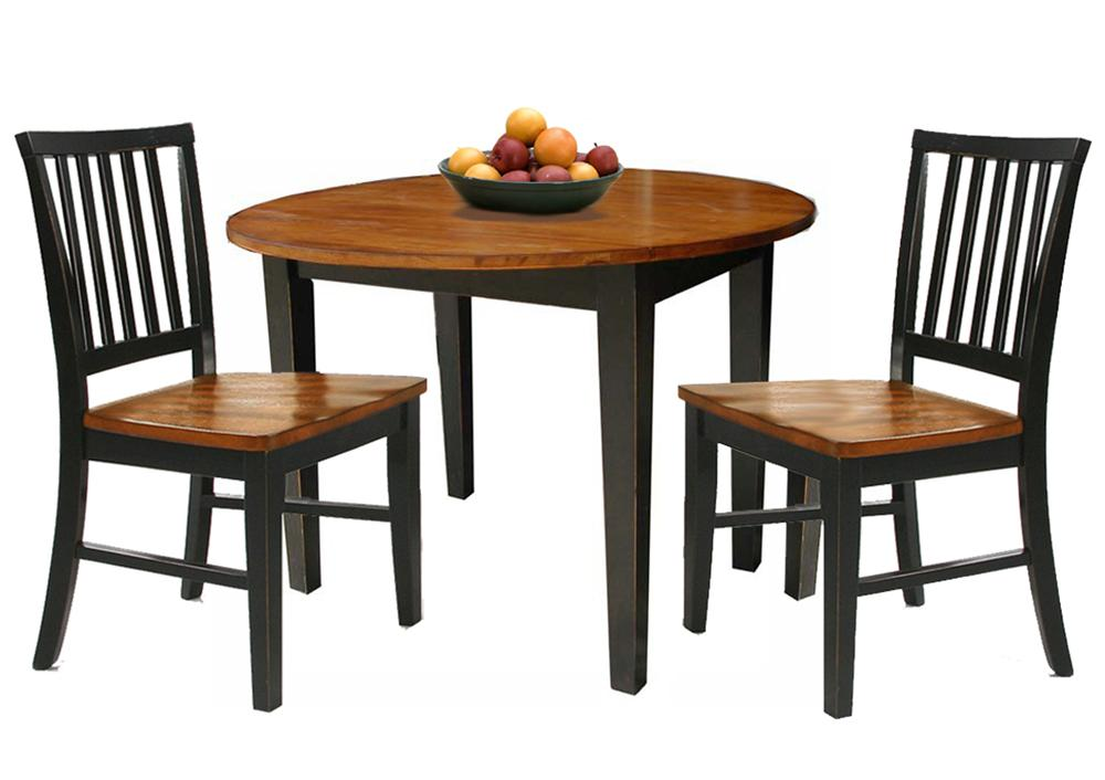 Intercon arlington 3pc drop leaf dinette wayside for Dining room table replacement leaf