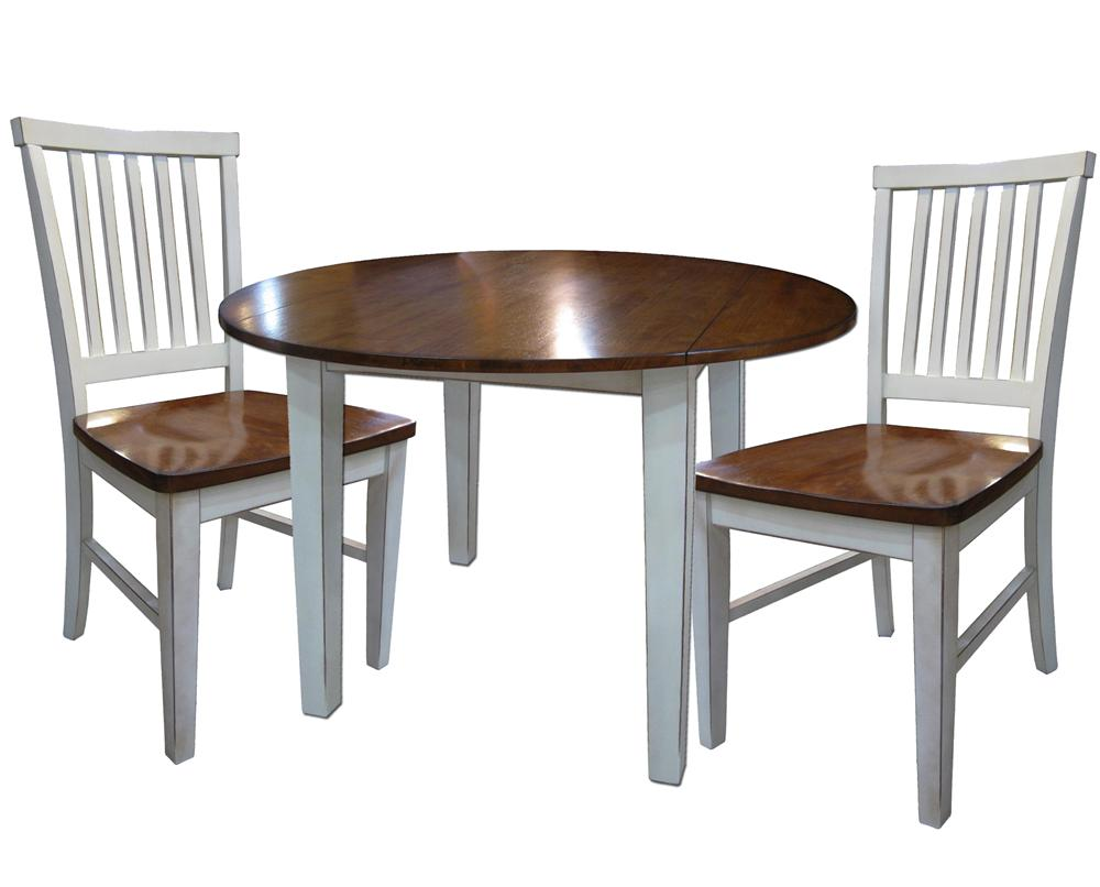 Intercon arlington 3 piece dining set with two drop leaves for Table 6 kitchen and bar canton ohio