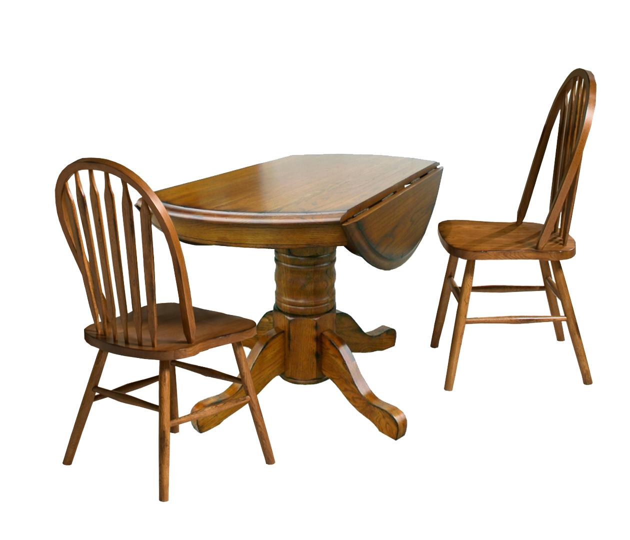 Intercon Classic Oak Three Piece Drop Leaf Table And Chair