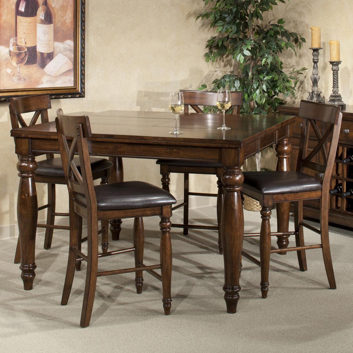 Intercon kingston five piece gathering table and stool set for Hudsons furniture