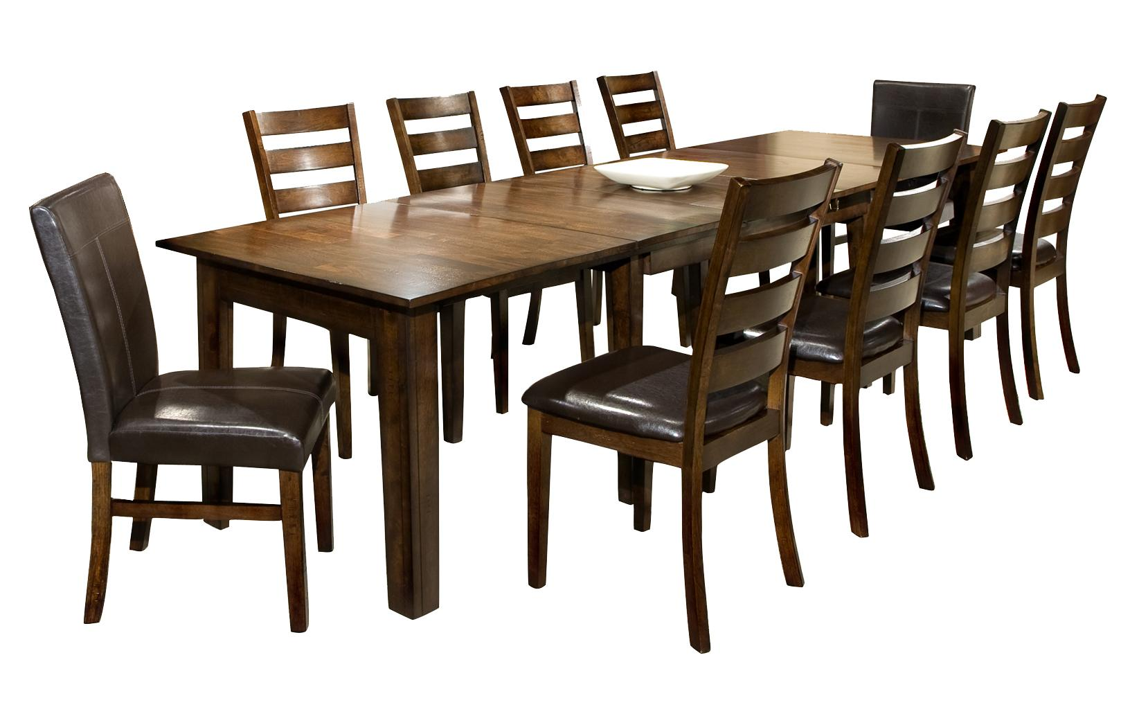 Intercon kona 11 piece dining set with table and chairs for Table 6 kitchen and bar canton ohio