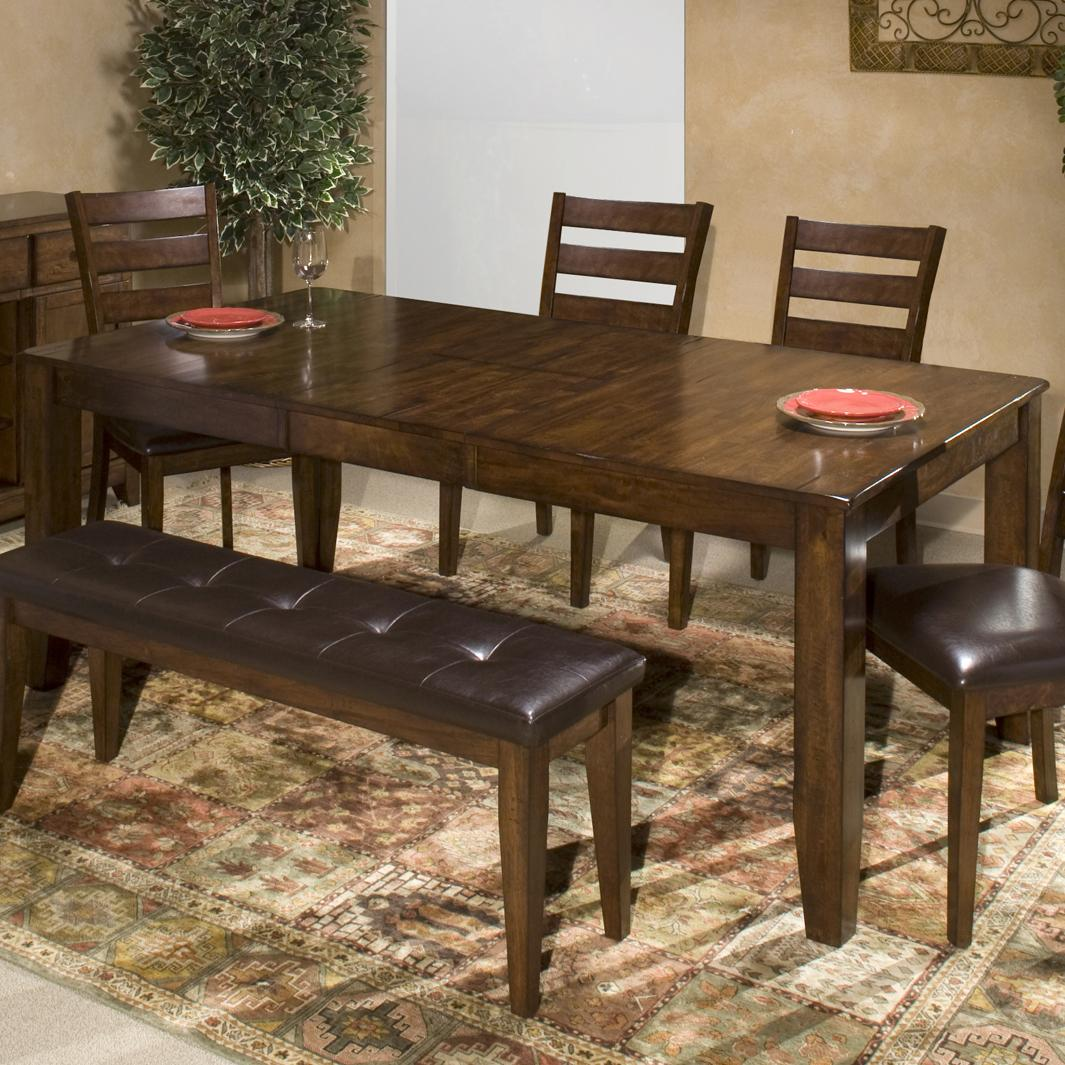 Intercon kona solid mango wood dining table with butterfly for Butterfly dining table