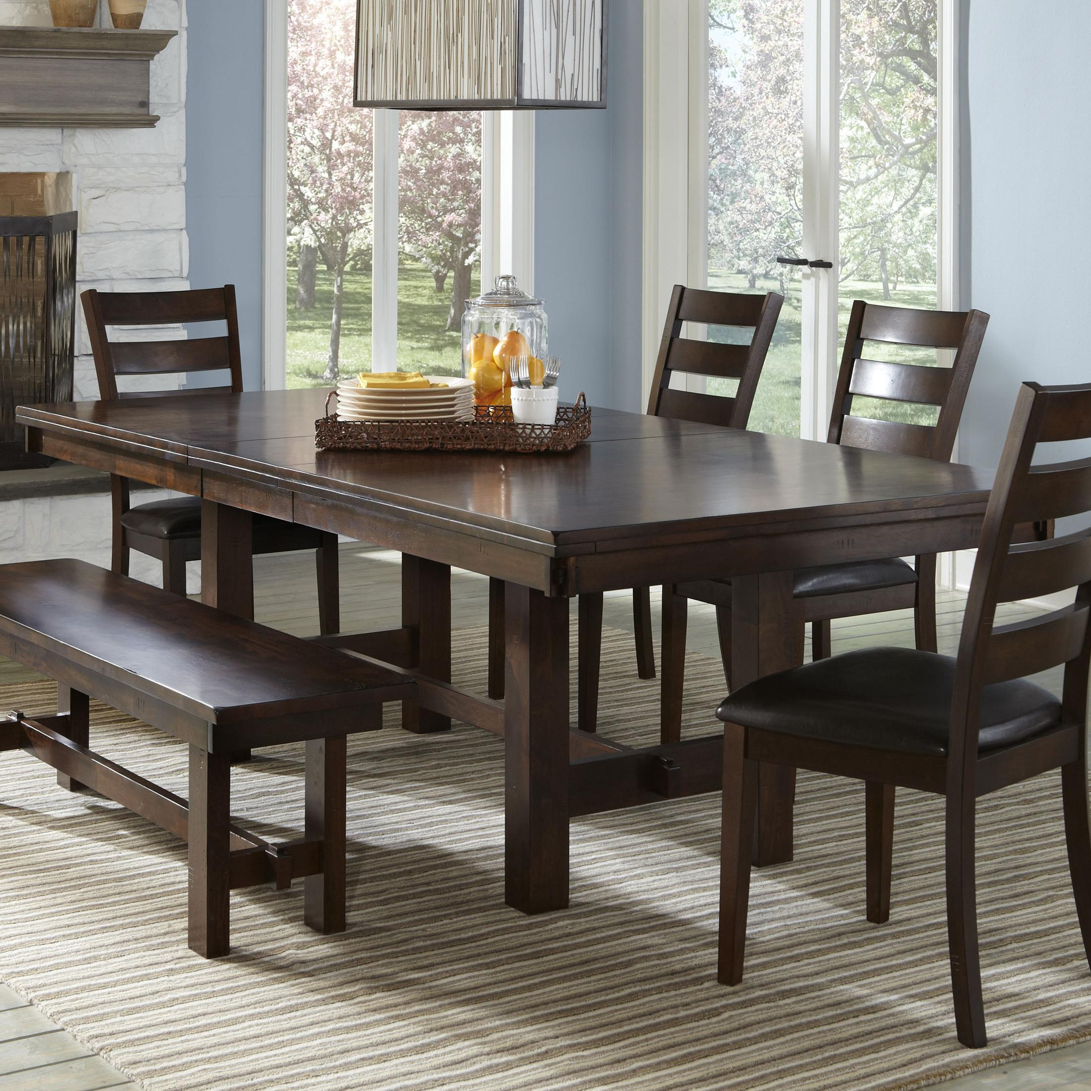 Intercon Kona Trestle Dining Table with Leaf Wayside
