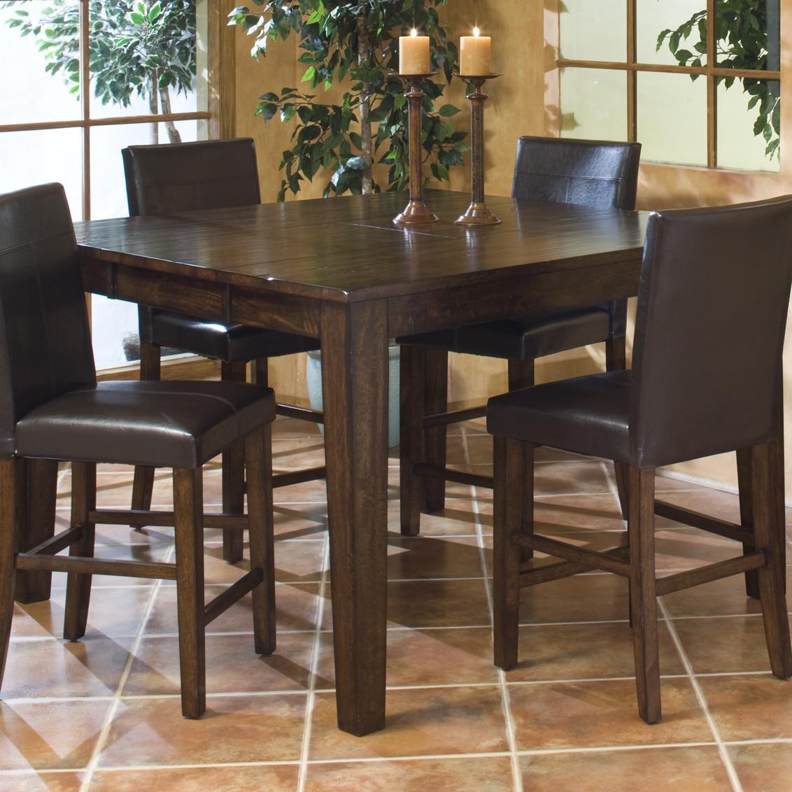 intercon kona solid mango gathering table with butterfly leaf dinette depot pub tables. Black Bedroom Furniture Sets. Home Design Ideas