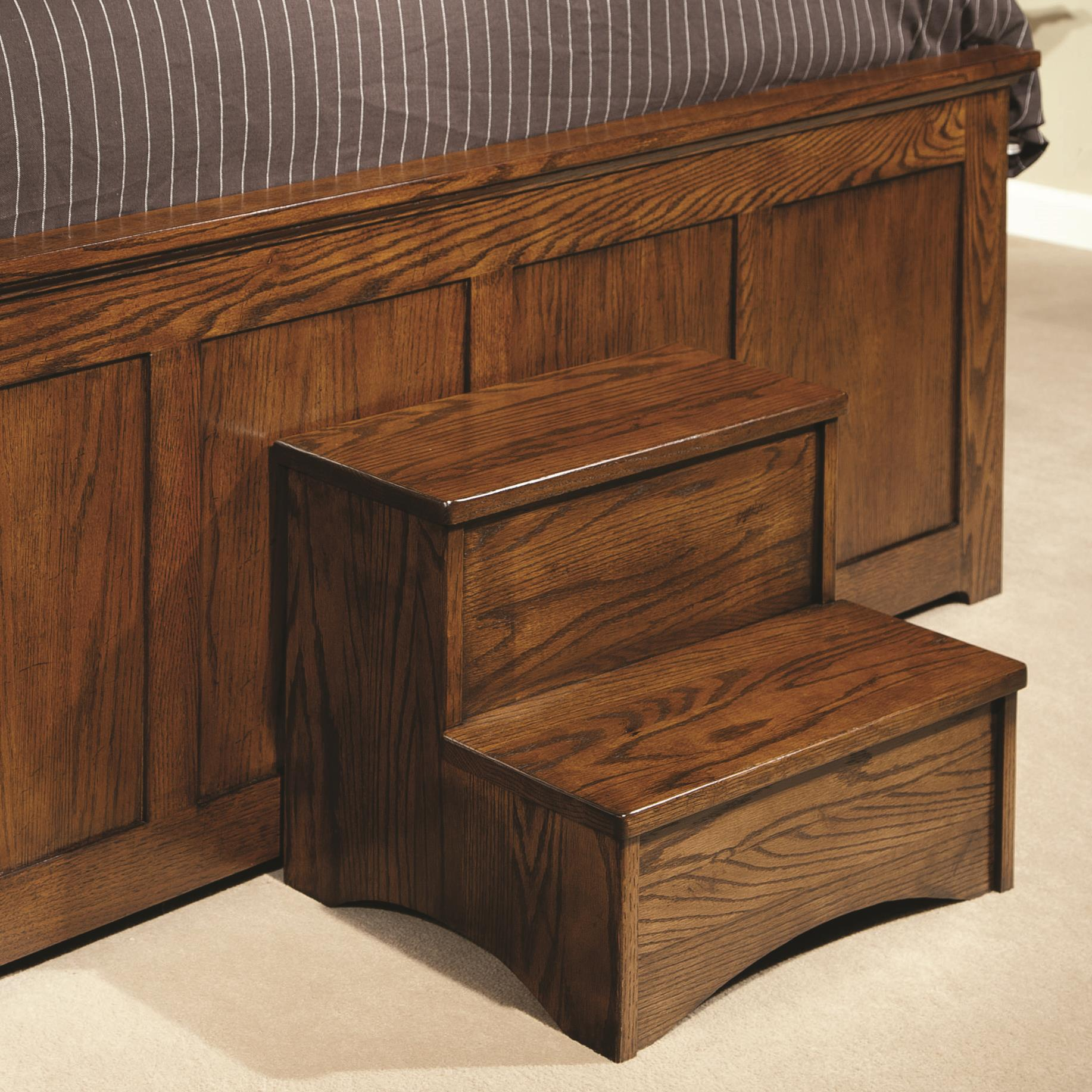 Intercon oak park bed step stool furniture options new for Furniture options
