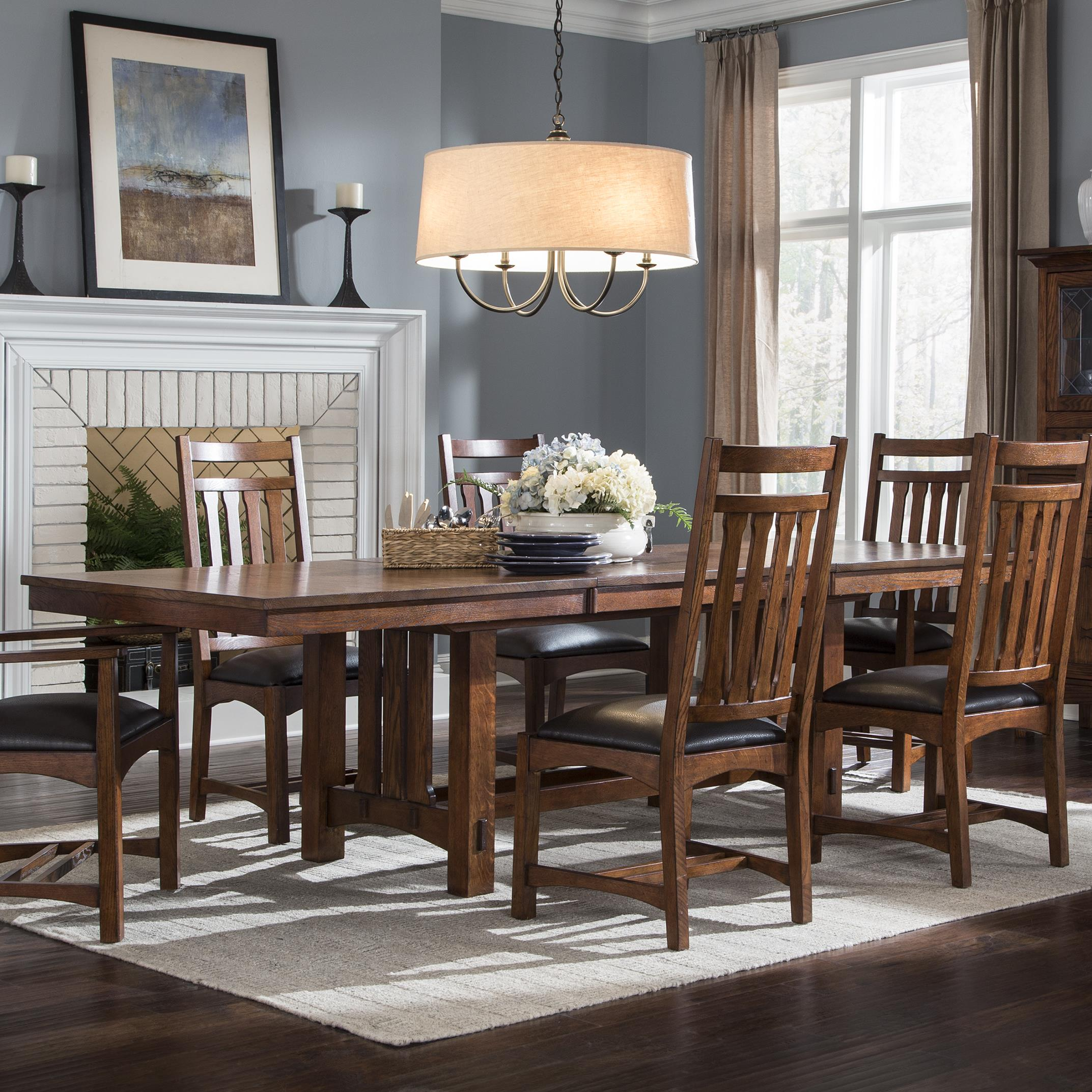 Home Dining Room Furniture Dining Room Table Intercon Oak Park Trestle