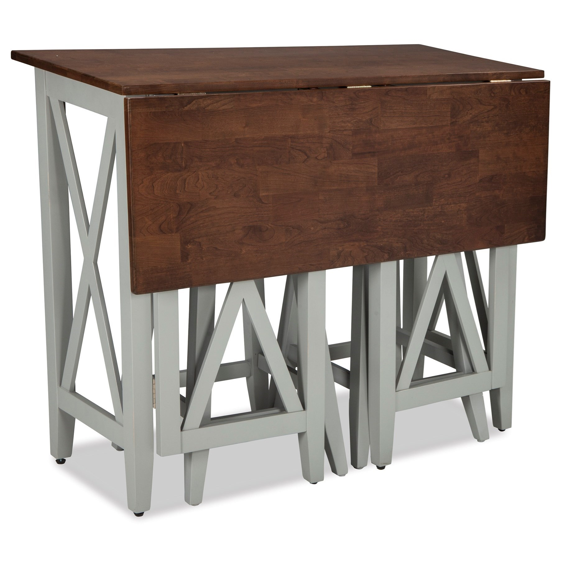 Intercon small space 3 piece drop leaf breakfast bar and for Small table and stool set
