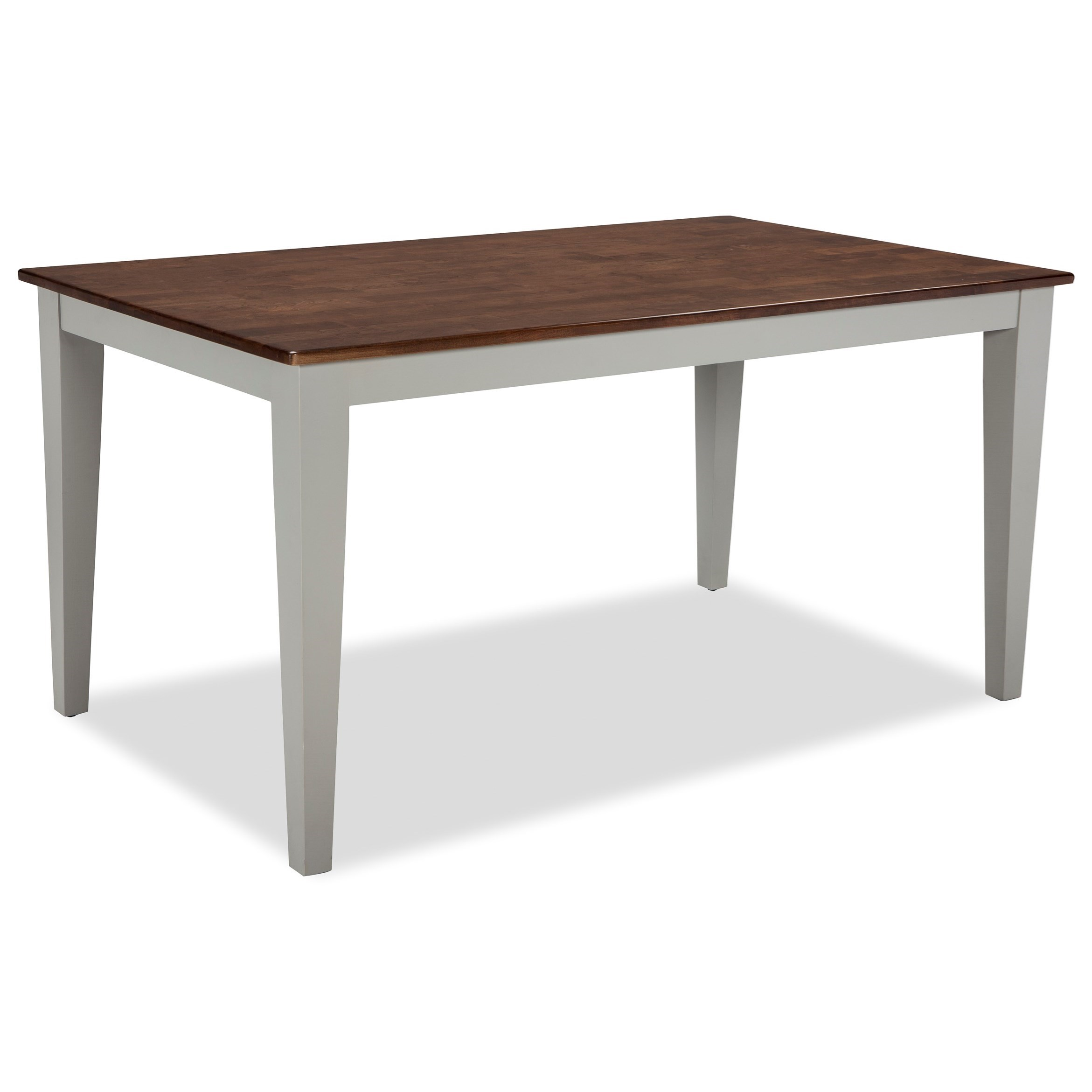 Intercon small space two tone rectangular dining table for Table 6 kitchen and bar canton ohio