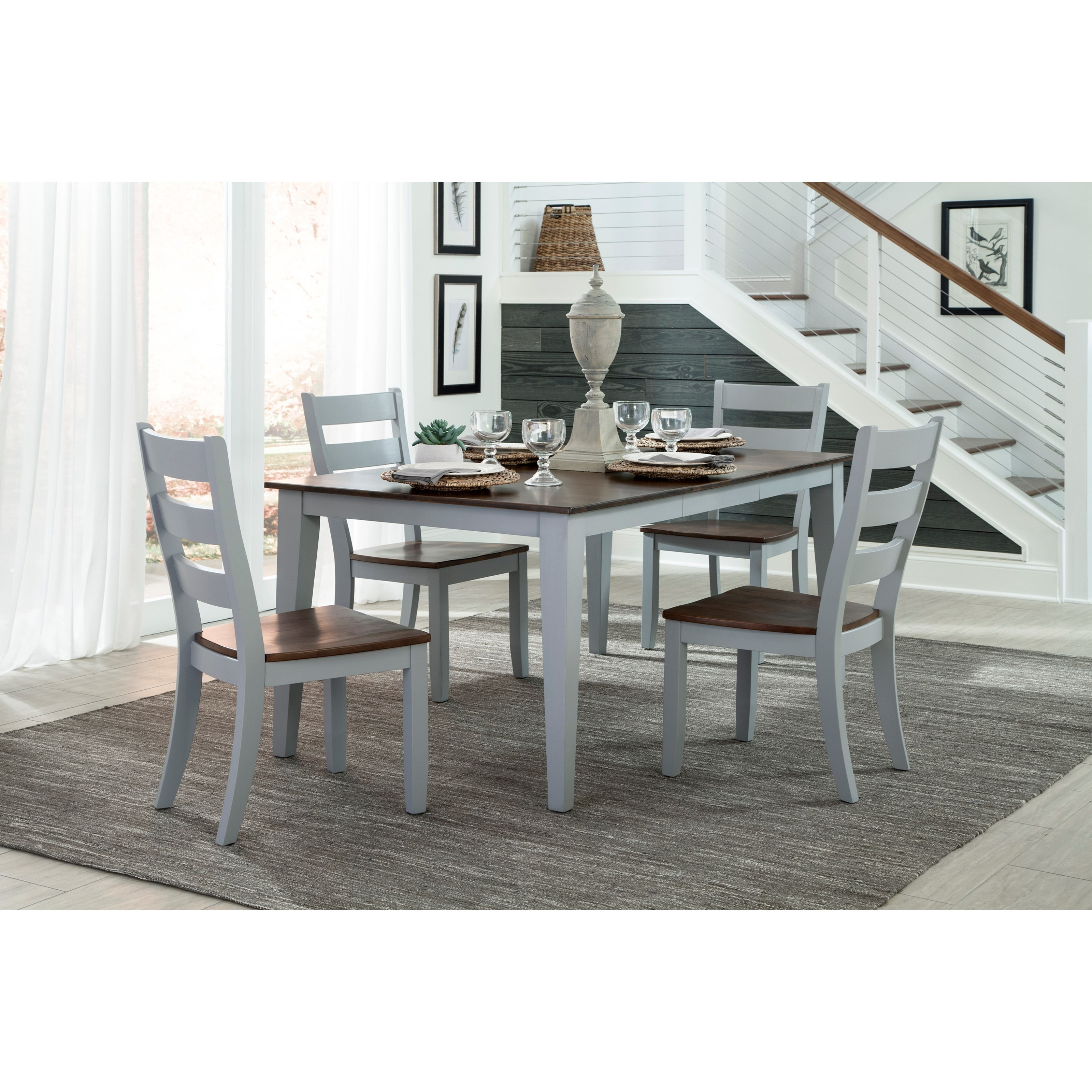 Dining Room Sets For Small Spaces: Intercon Small Space 5 Piece Table And Ladder Back Chair