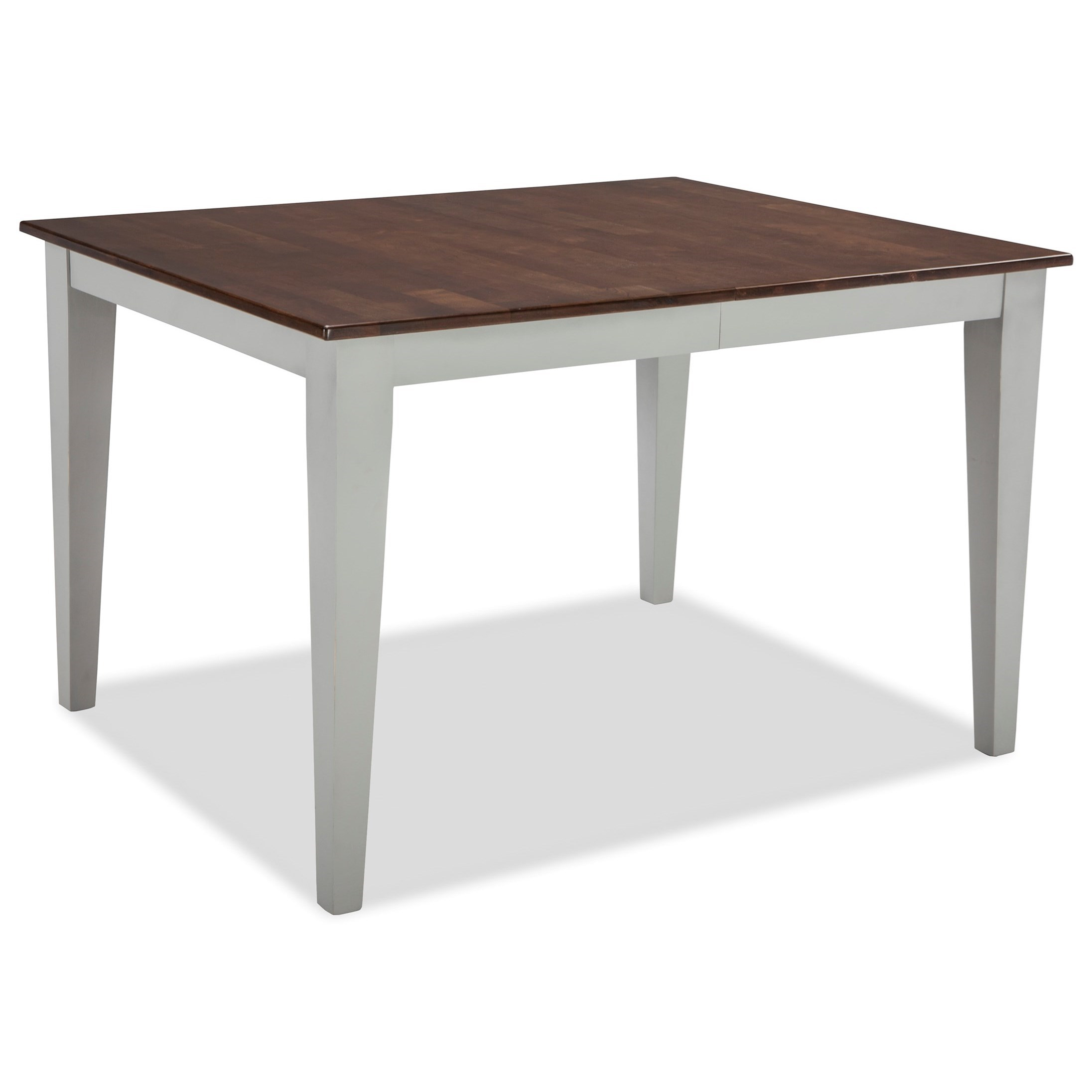 Intercon small space ss ta 3866 cyg c two tone rectangular for Small dining room table with leaf