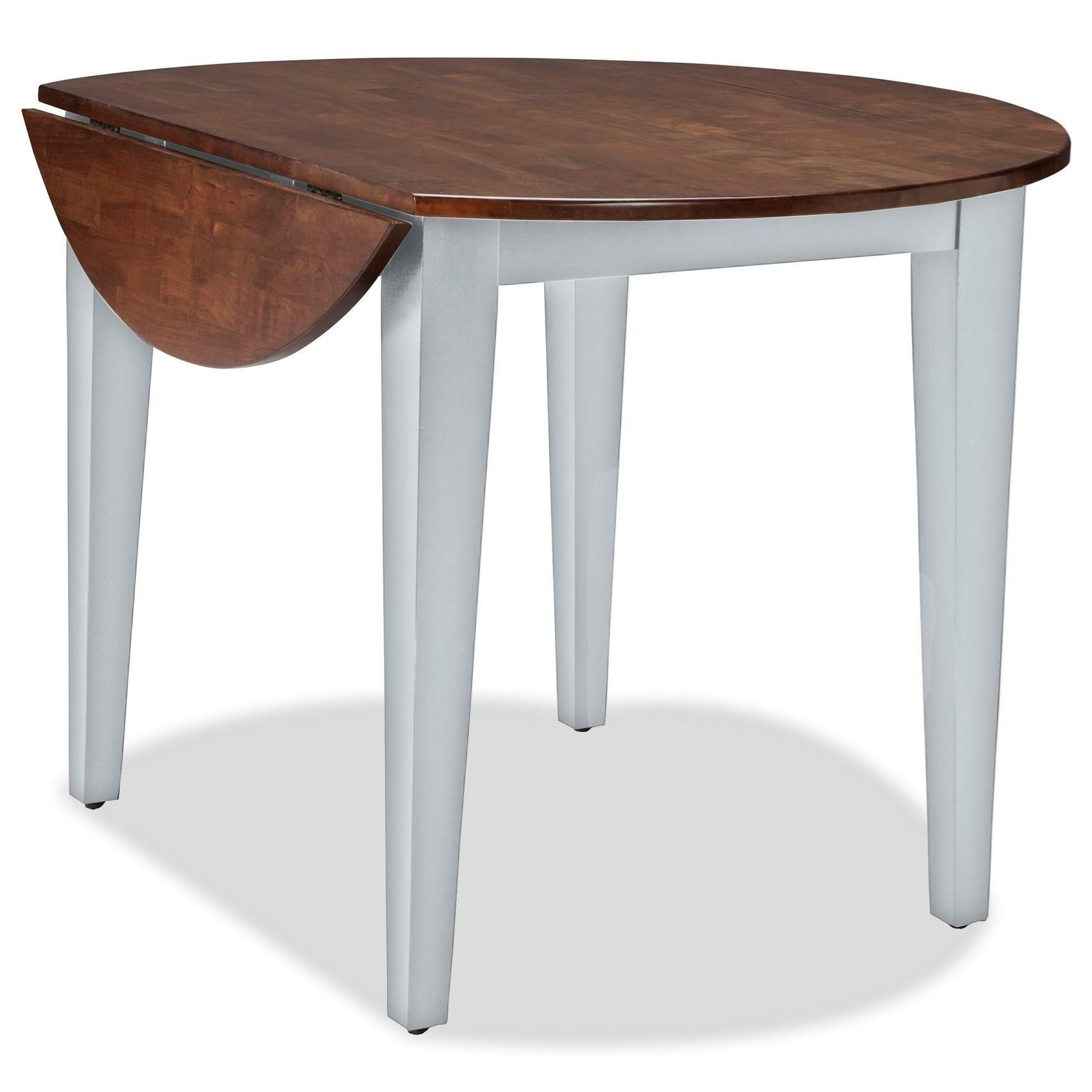 Intercon small space ss ta 42d cyg c 42 round drop leaf for Small round dining table with leaf