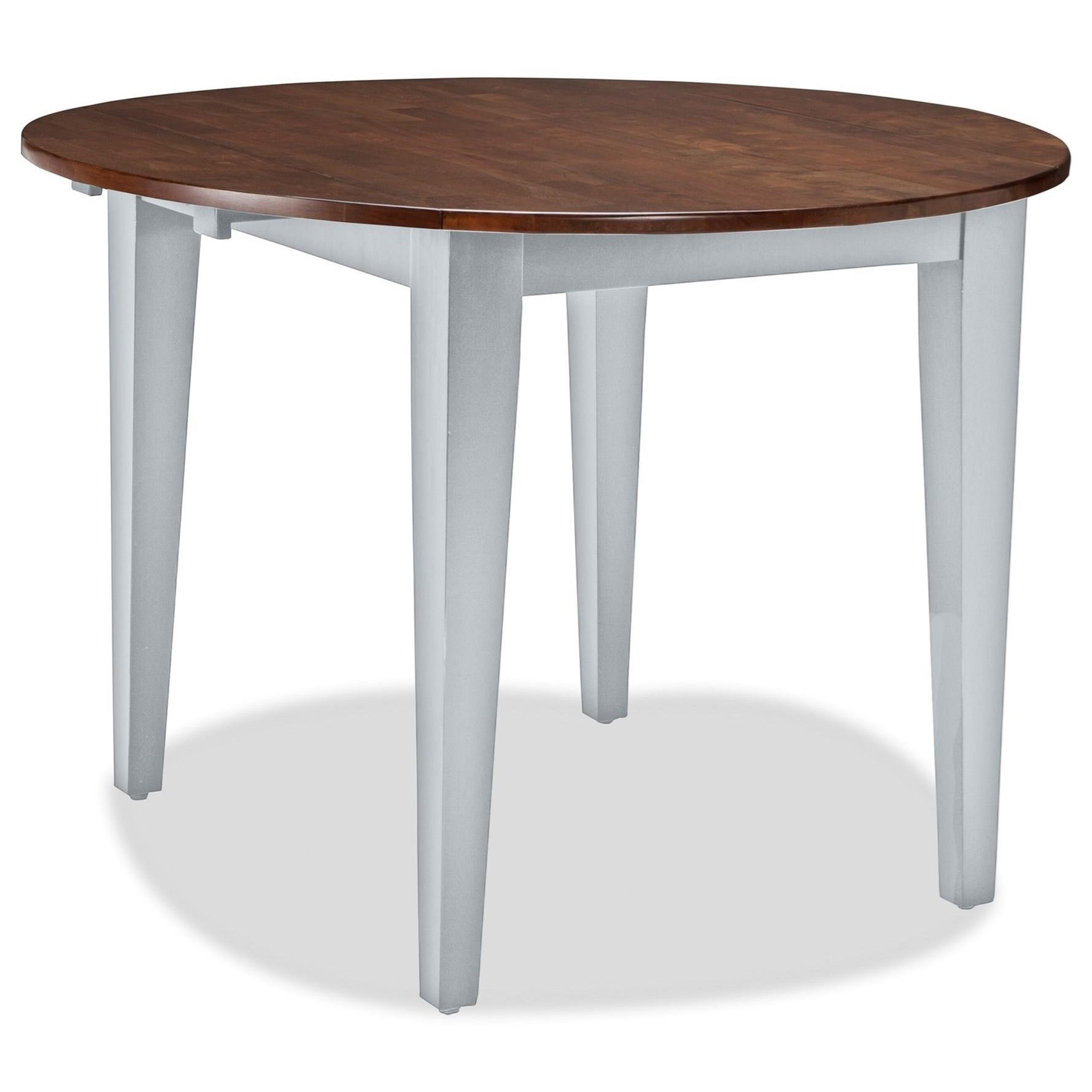 furniture dining tables intercon small space 42 round drop leaf table