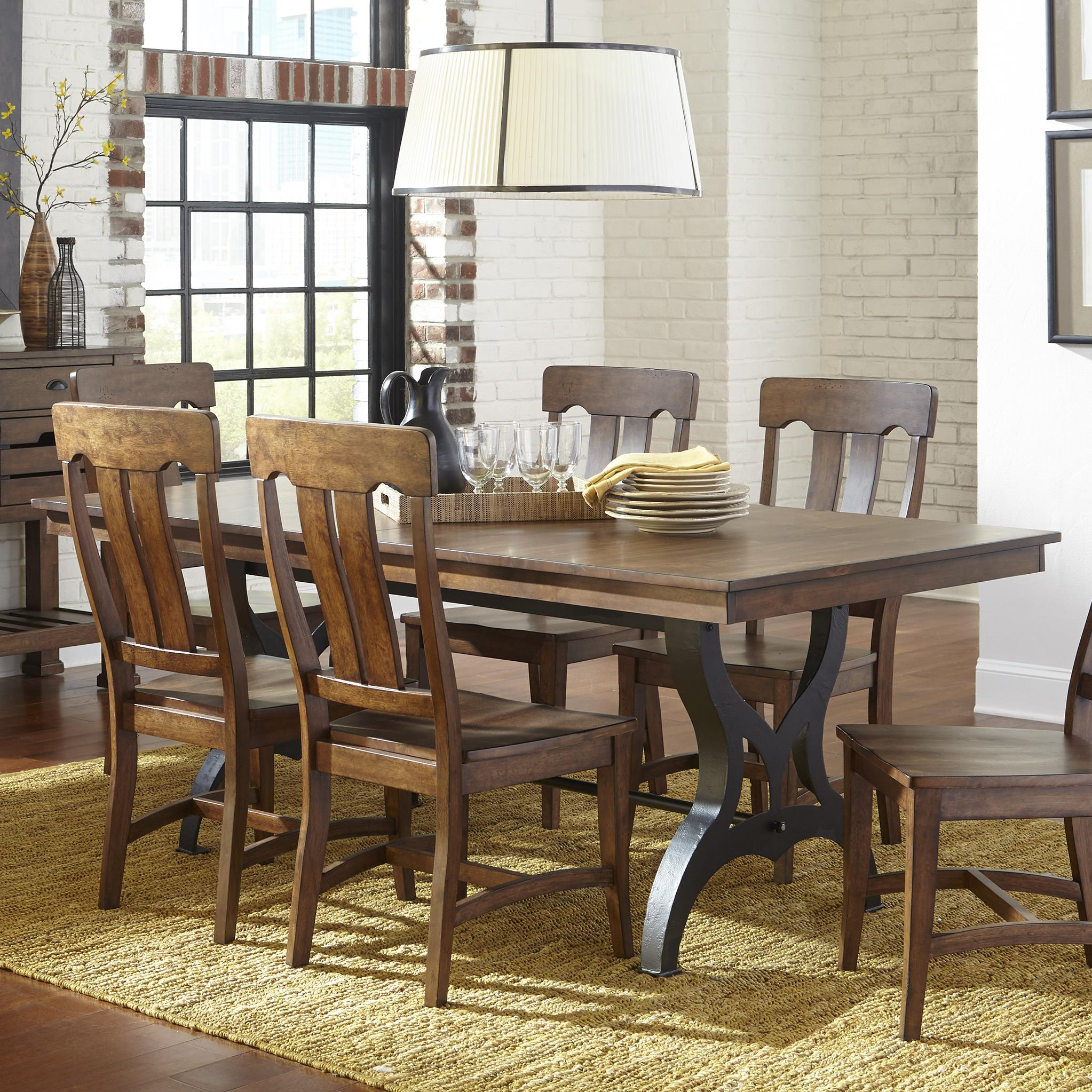 Intercon the district dining table with leaf furniture for Formal dining table