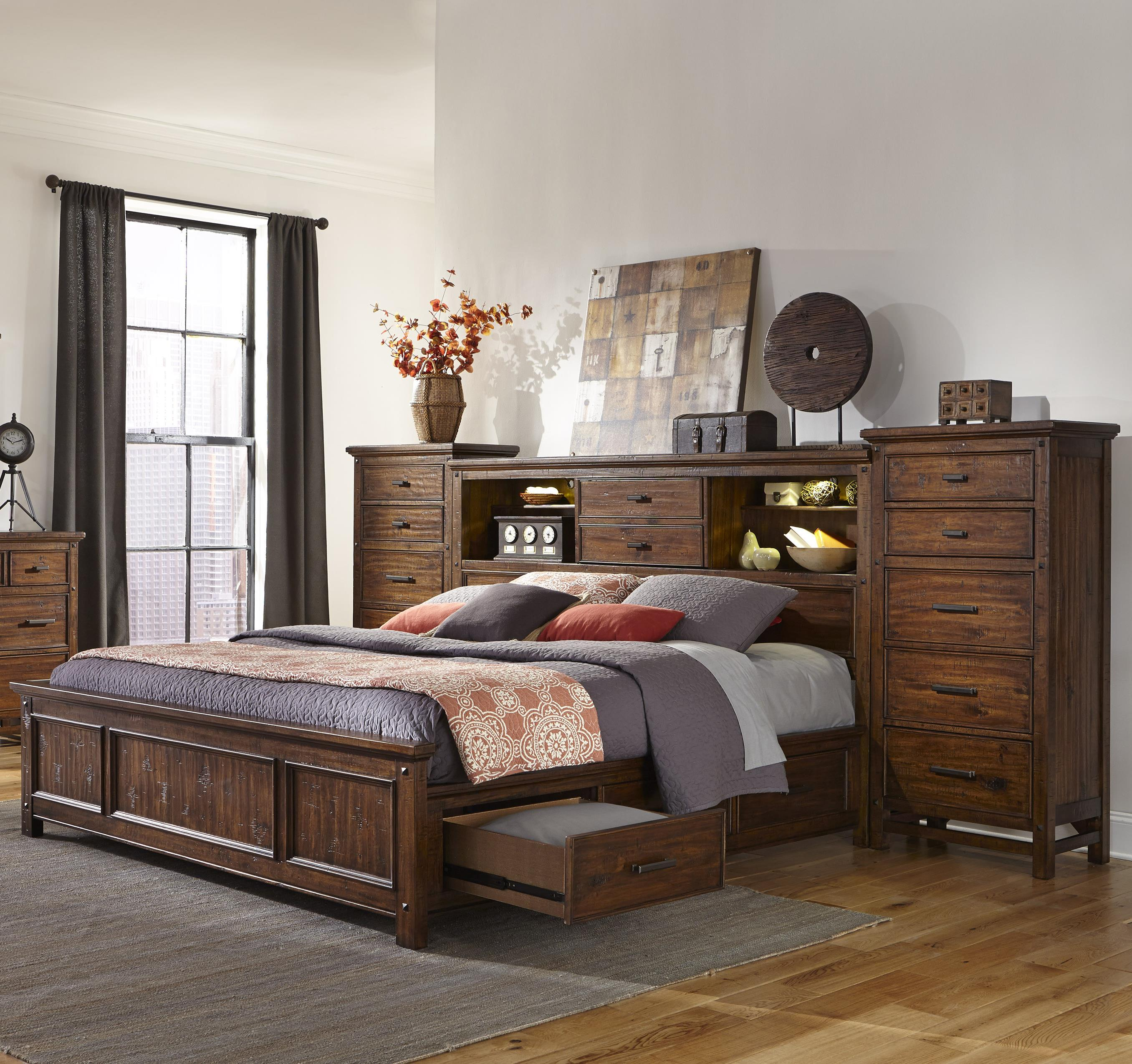 Intercon Wolf Creek California King Bookcase Bed with