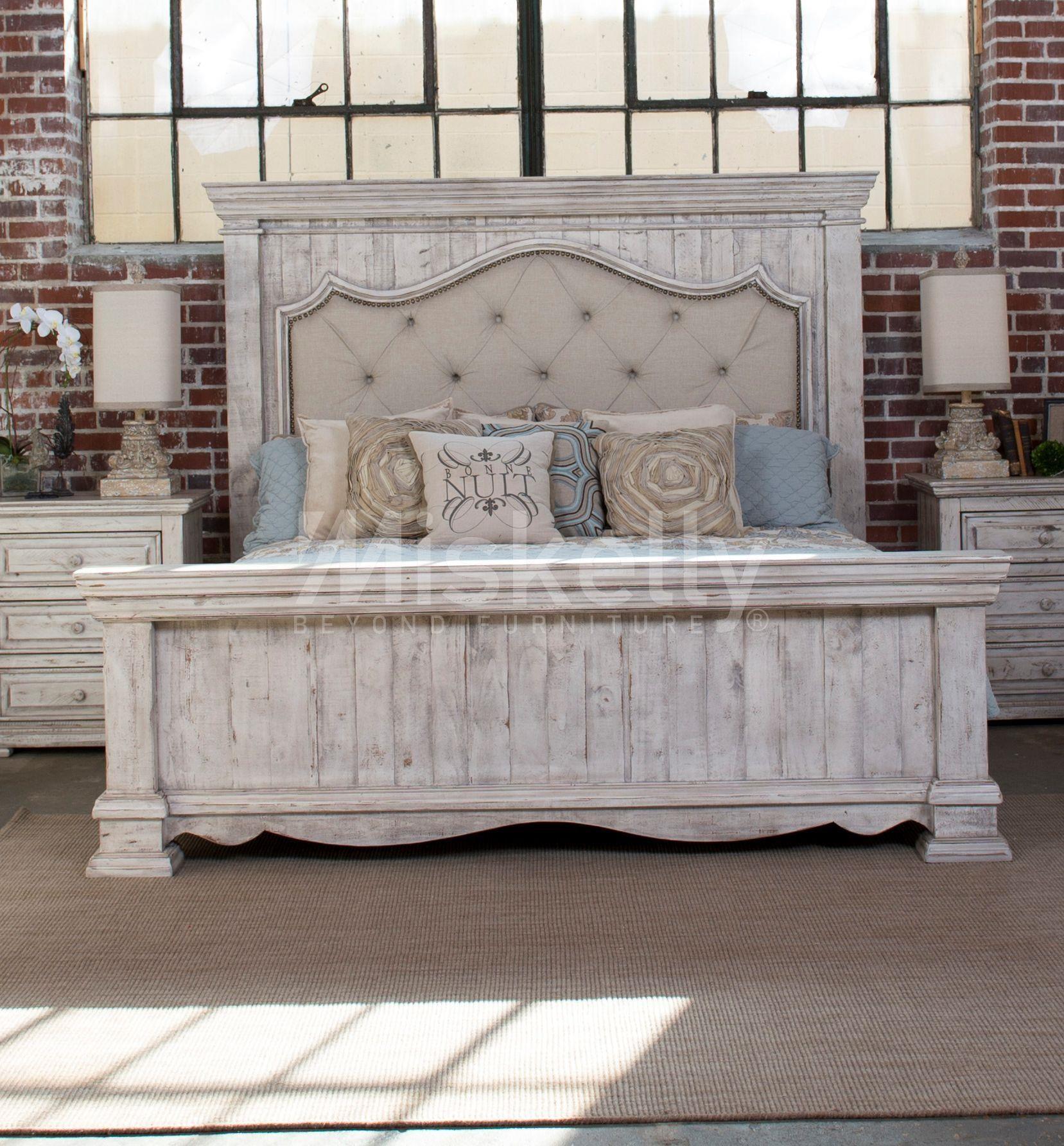 International Furniture Direct 1022 Terra White Queen
