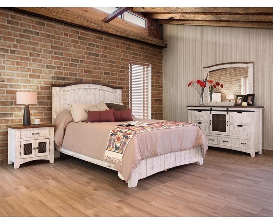 International furniture direct pueblo queen bedroom group for Bedroom furniture direct