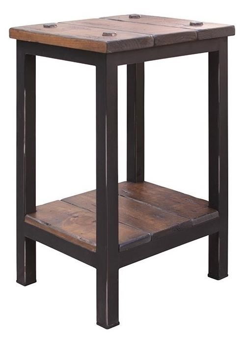 International Furniture Direct Pueblo Chairside Table with