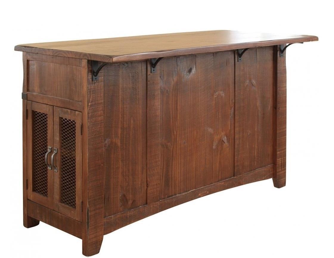 International furniture direct pueblo kitchen island with for Furniture direct