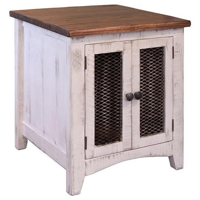 International Furniture Direct Pueblo Rustic End Table