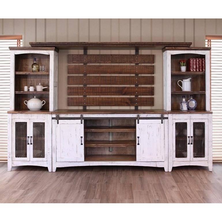 International Furniture Direct Pueblo TV Stand with Four