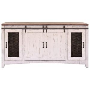 International Furniture Direct Pueblo Kitchen Island With