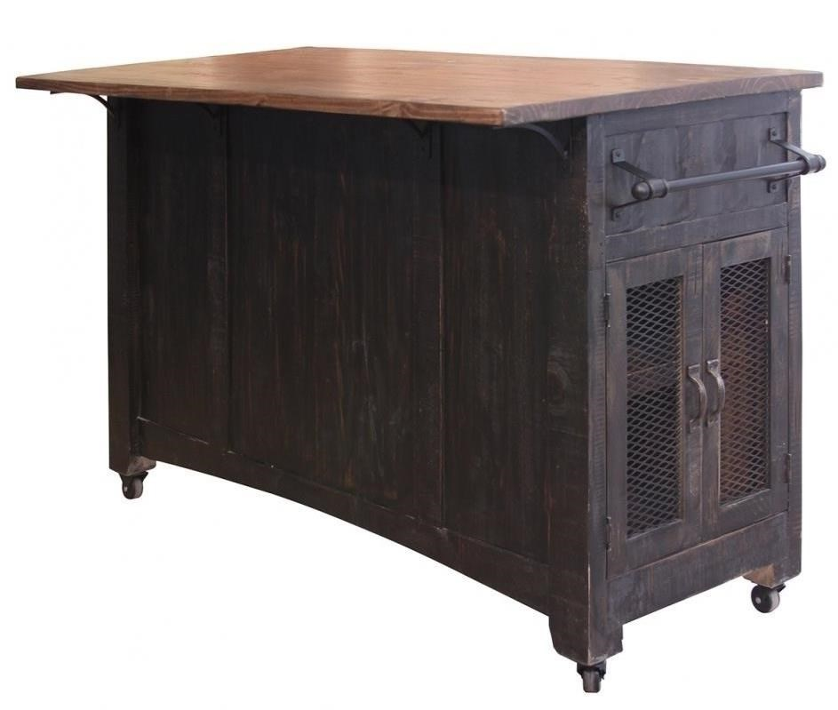 International Furniture Direct Pueblo Ifd370island Kitchen Island With Sliding Doors Dunk