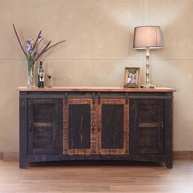 "International Furniture Direct Pueblo 70"" TV Stand with"