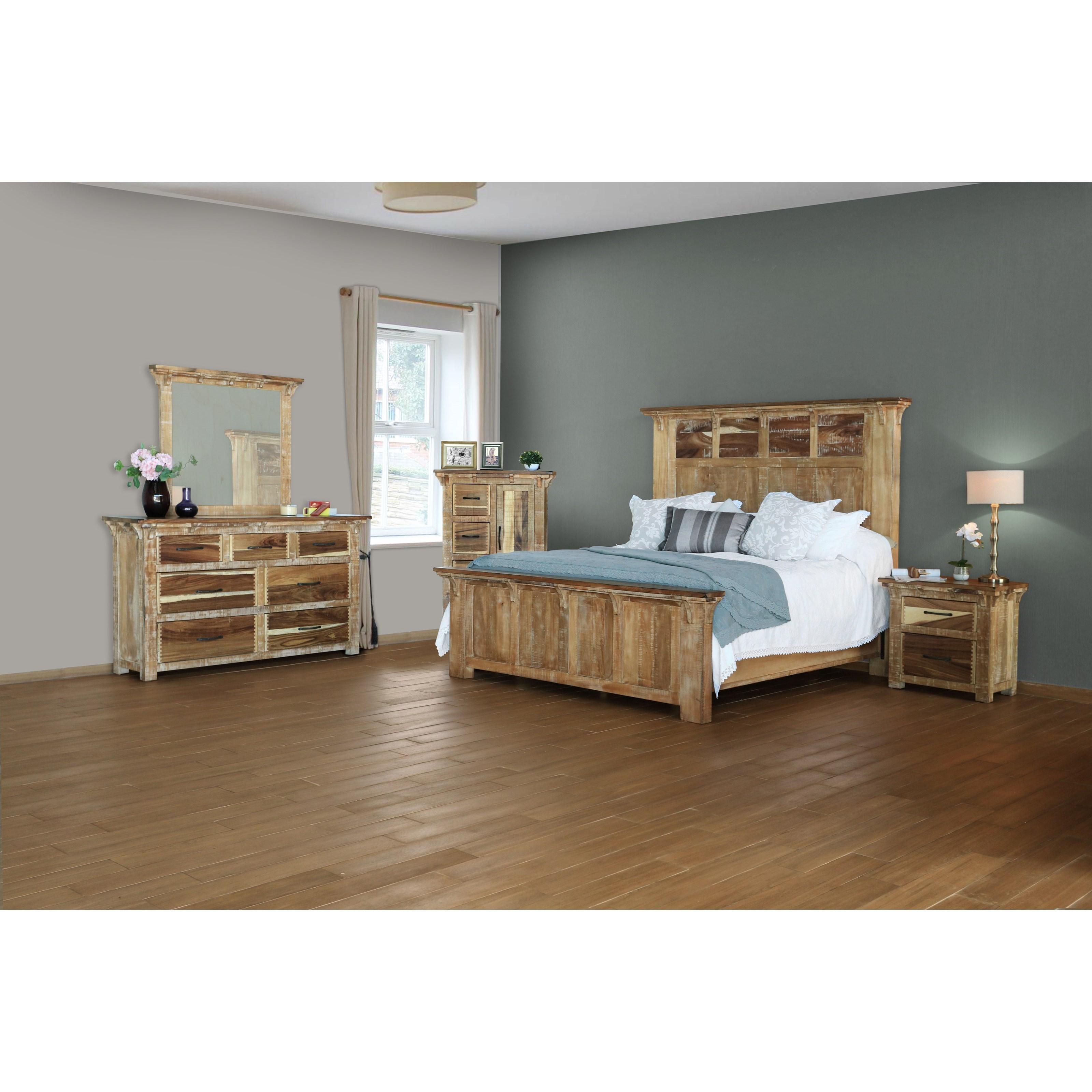International furniture direct casablanca queen bedroom for Bedroom furniture direct