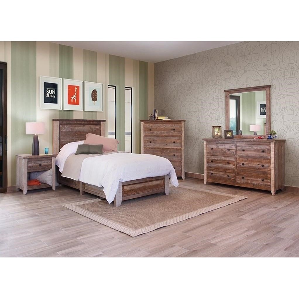 International Furniture Direct 900 Antique Rustic Six