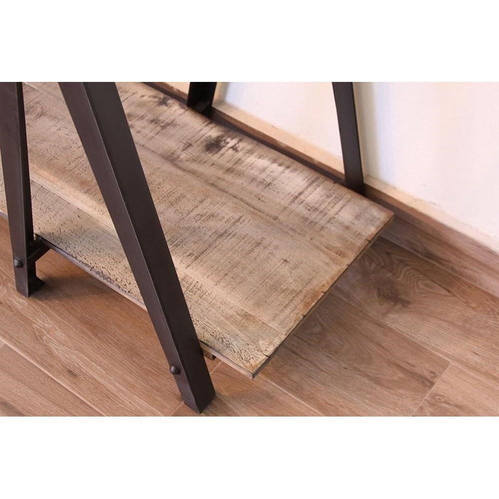 International Furniture Direct Artifact Rustic Sofa Table