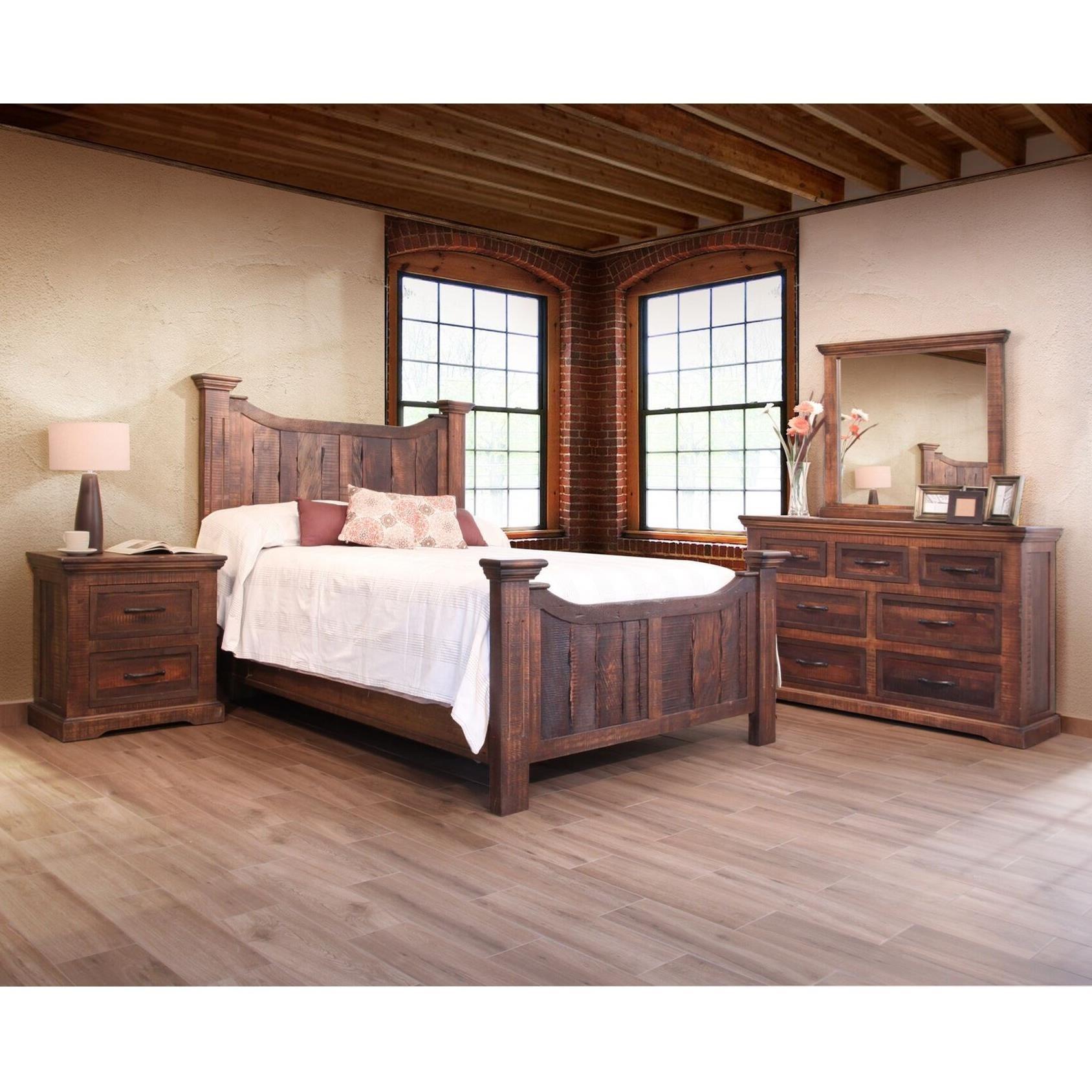 International furniture direct madeira queen bedroom group for Bedroom groups