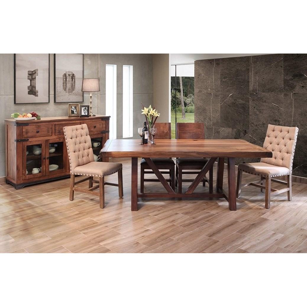 International furniture direct parota formal dining room for Furniture group