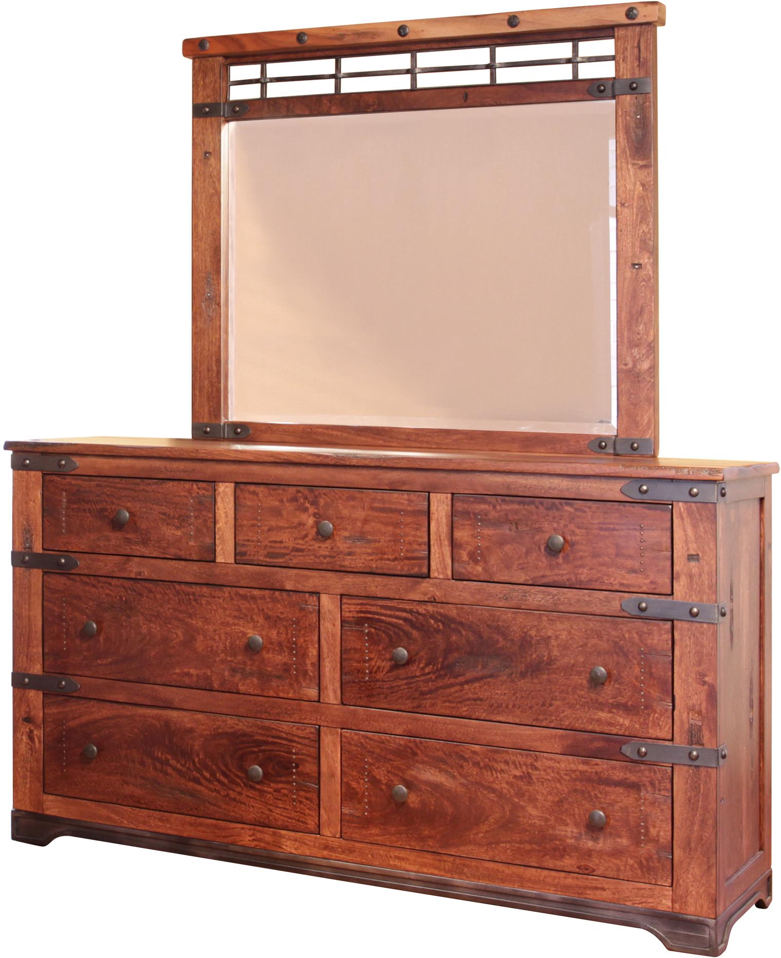 International Furniture Direct Parota 7 Drawer Dresser