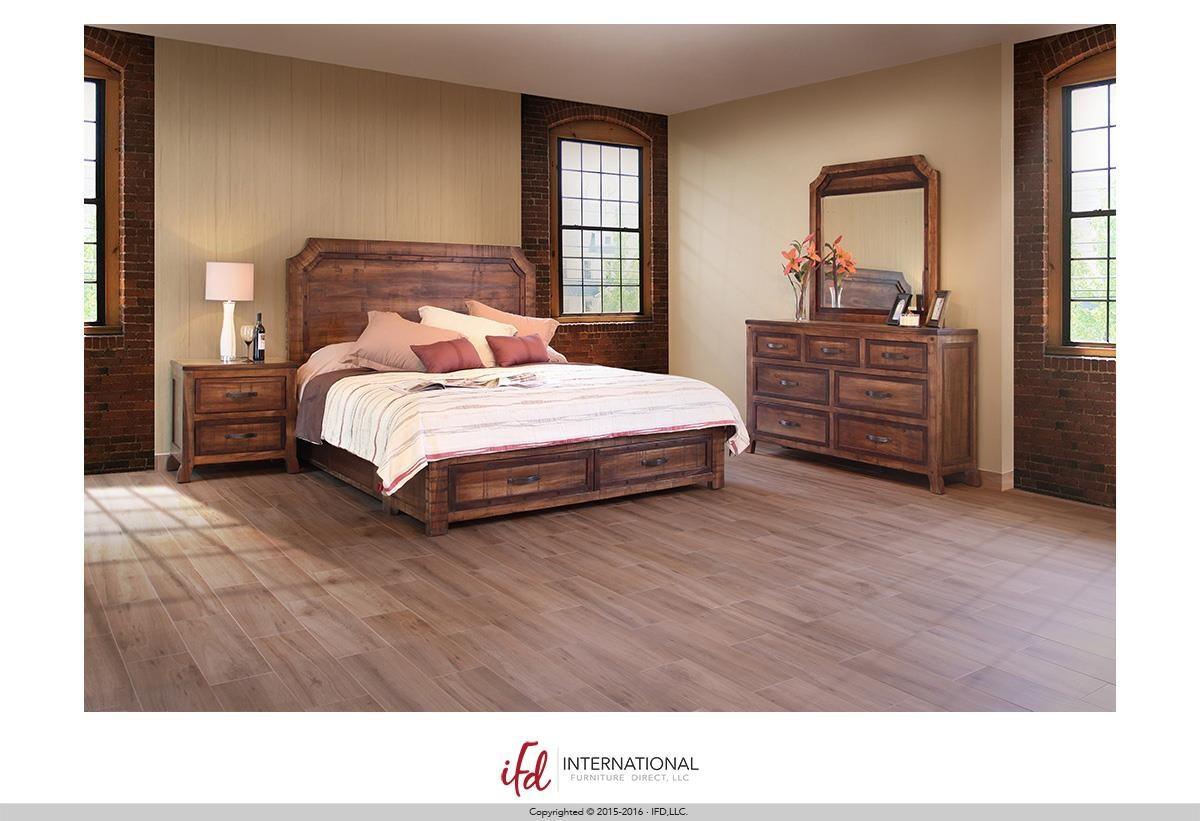 international furniture direct regal queen bed boulevard home furnishings headboard footboard. Black Bedroom Furniture Sets. Home Design Ideas