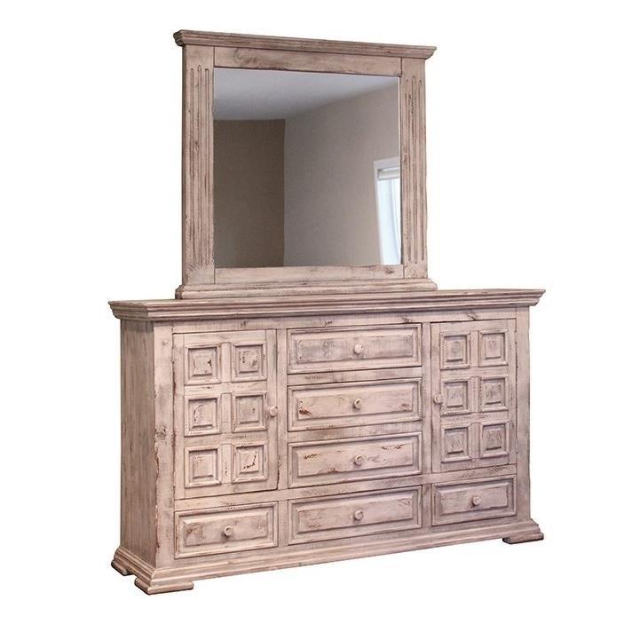 International Furniture Direct Terra White King Bedroom