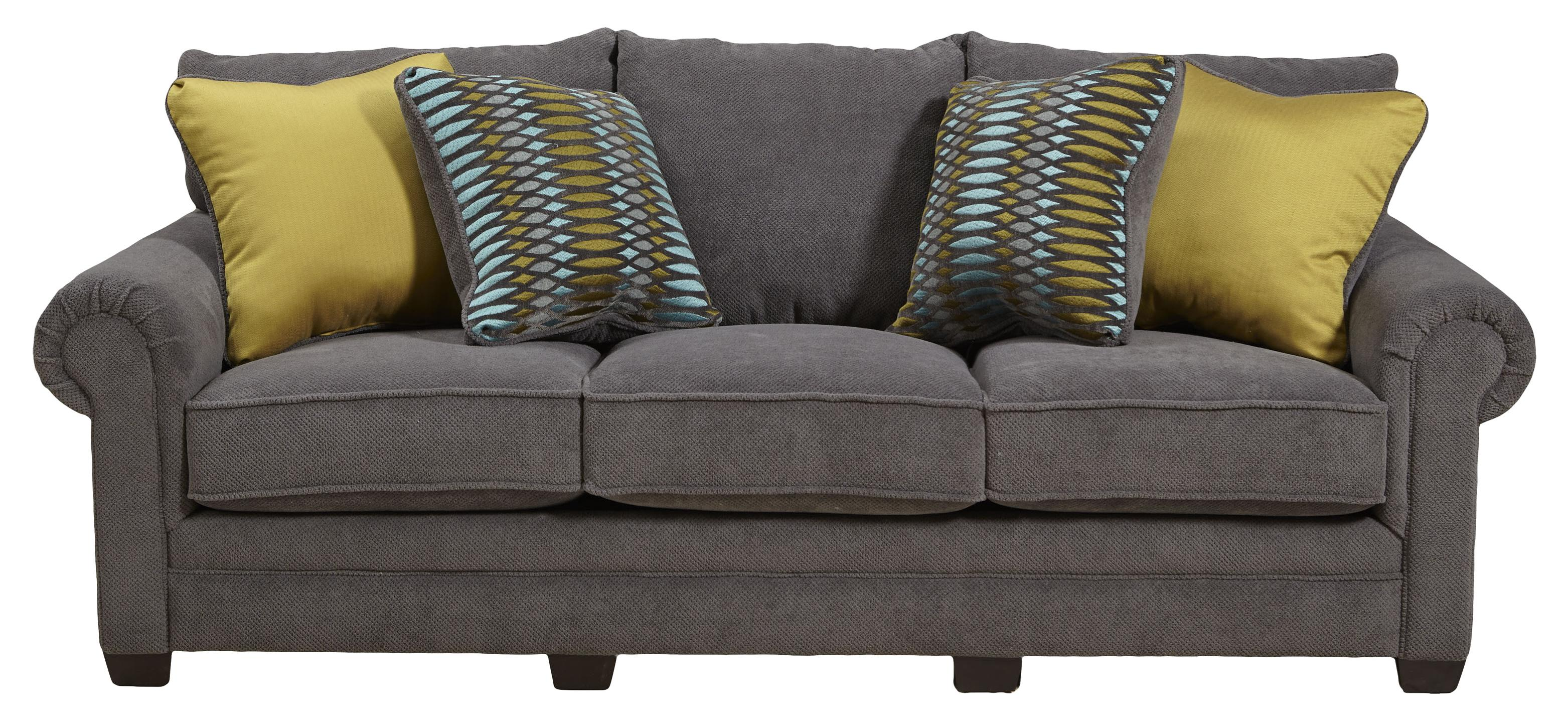 jackson furniture anniston 4342 03 stationary sofa lapeer furniture mattress center sofa. Black Bedroom Furniture Sets. Home Design Ideas