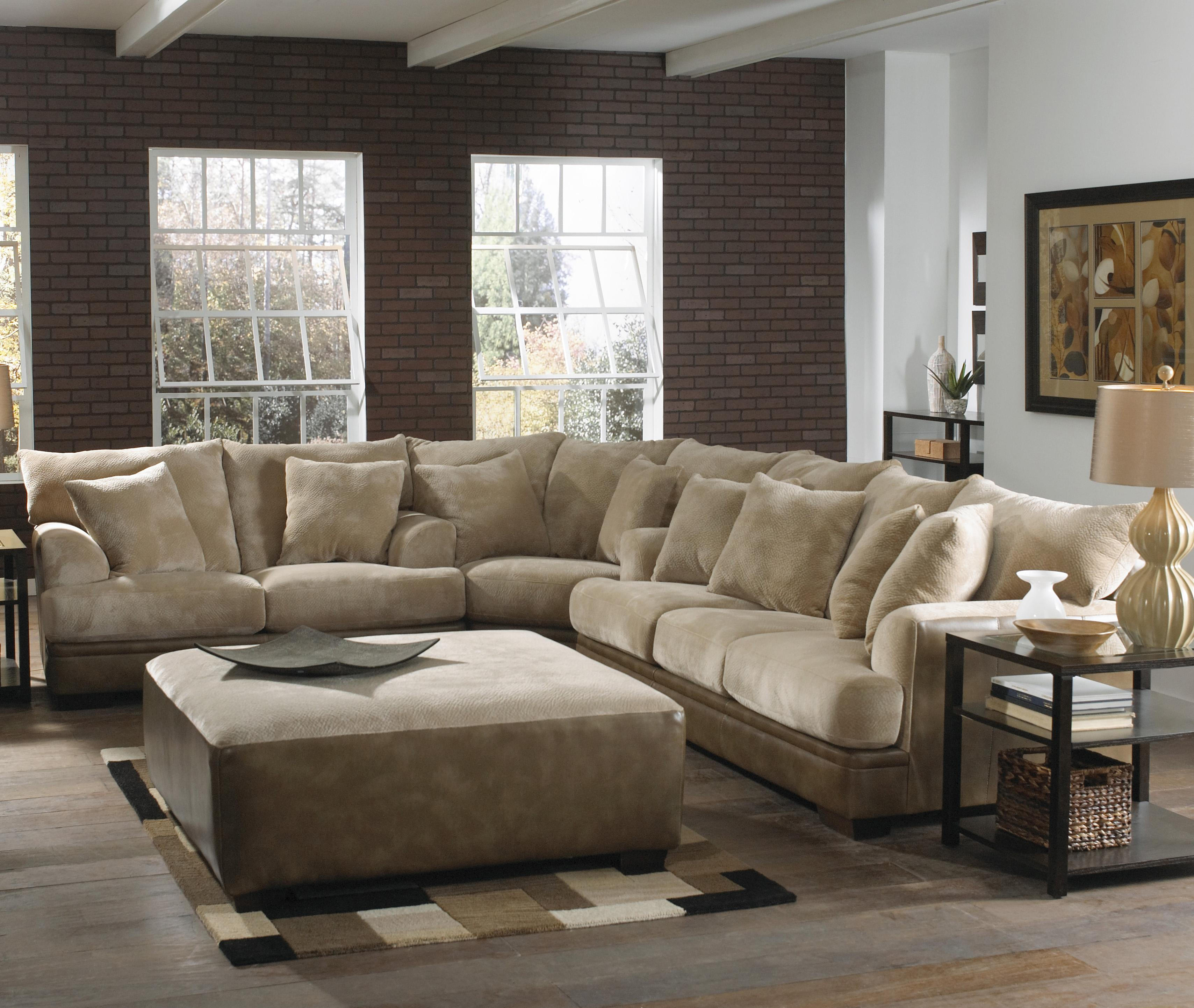 Barkley Large L Shaped Sectional Sofa With Left Side Loveseat By Jackson Furniture Wolf Furniture
